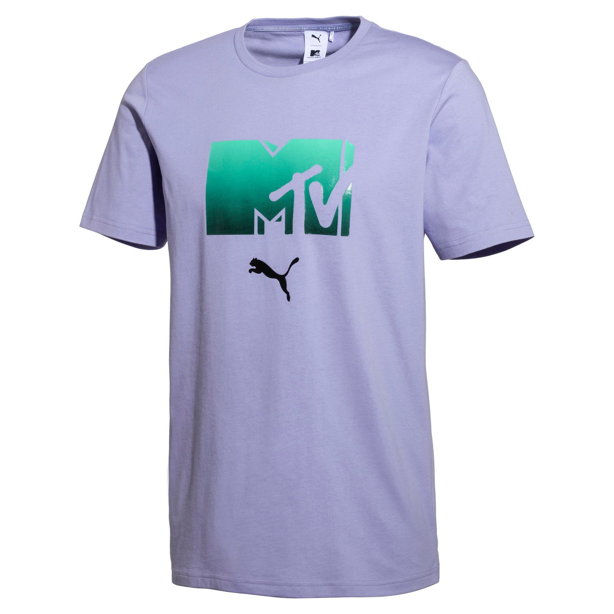 Miniatura 1 de Camiseta PUMA x MTV para hombre, Sweet Lavender, mediano