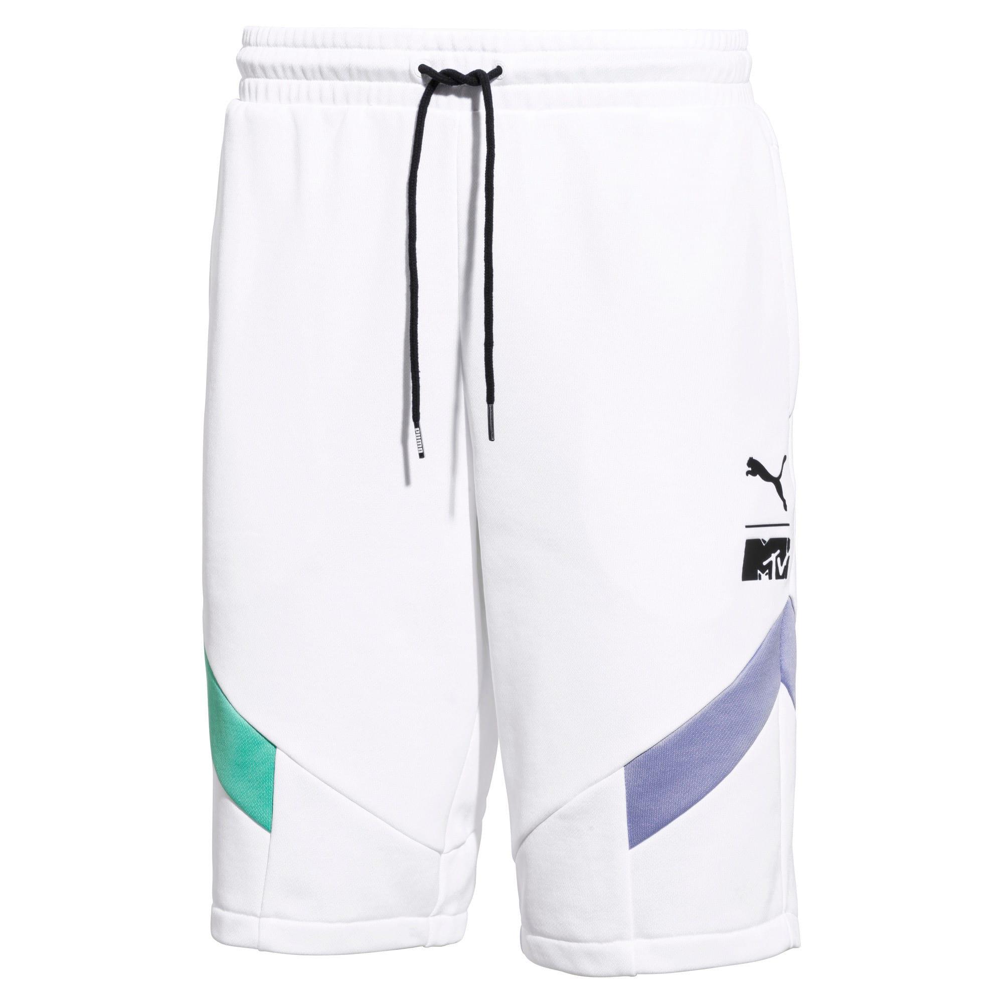 Thumbnail 1 of PUMA x MTV MCS Men's Shorts, Puma White, medium