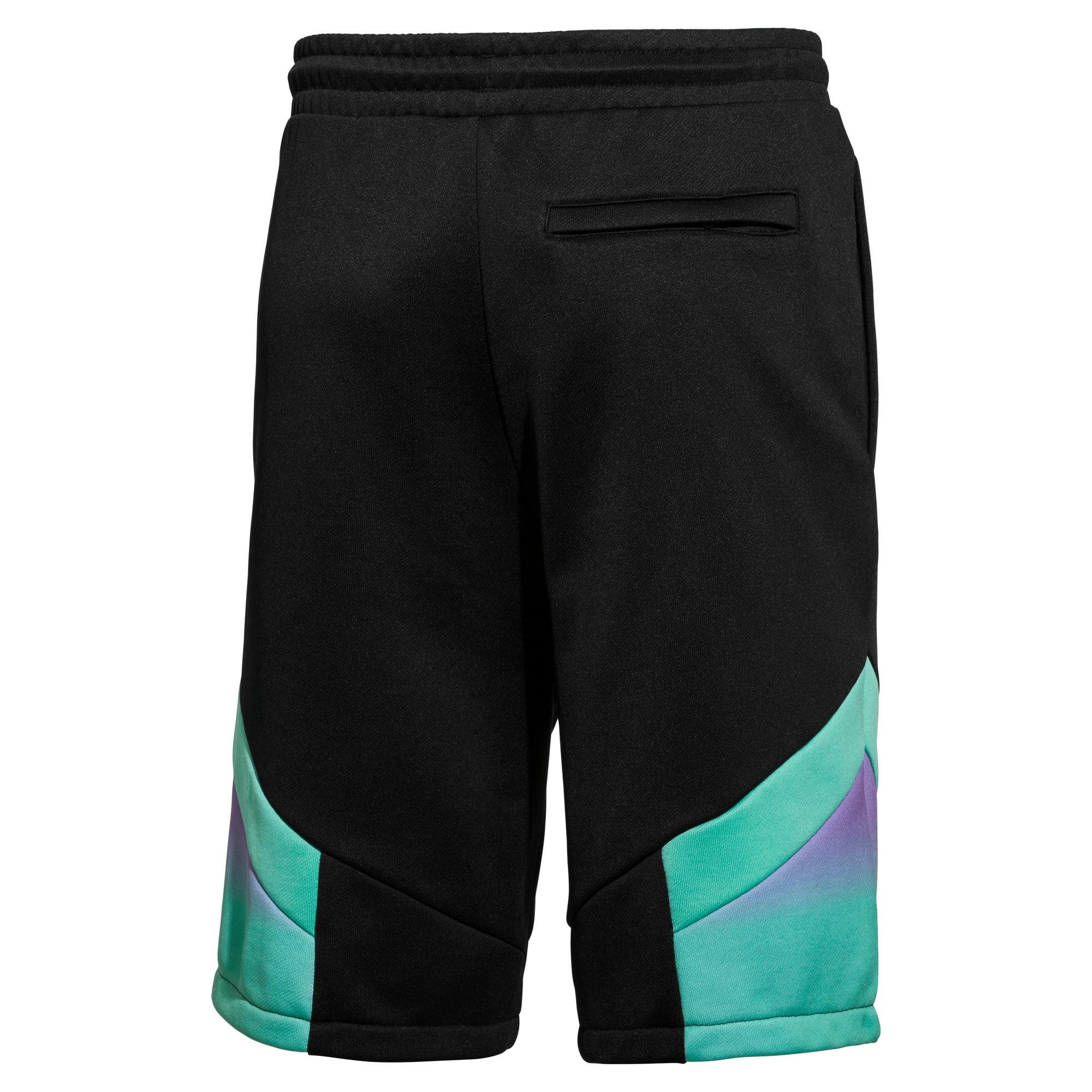 Thumbnail 2 of PUMA x MTV MCS Men's AOP Shorts, Puma Black-AOP, medium