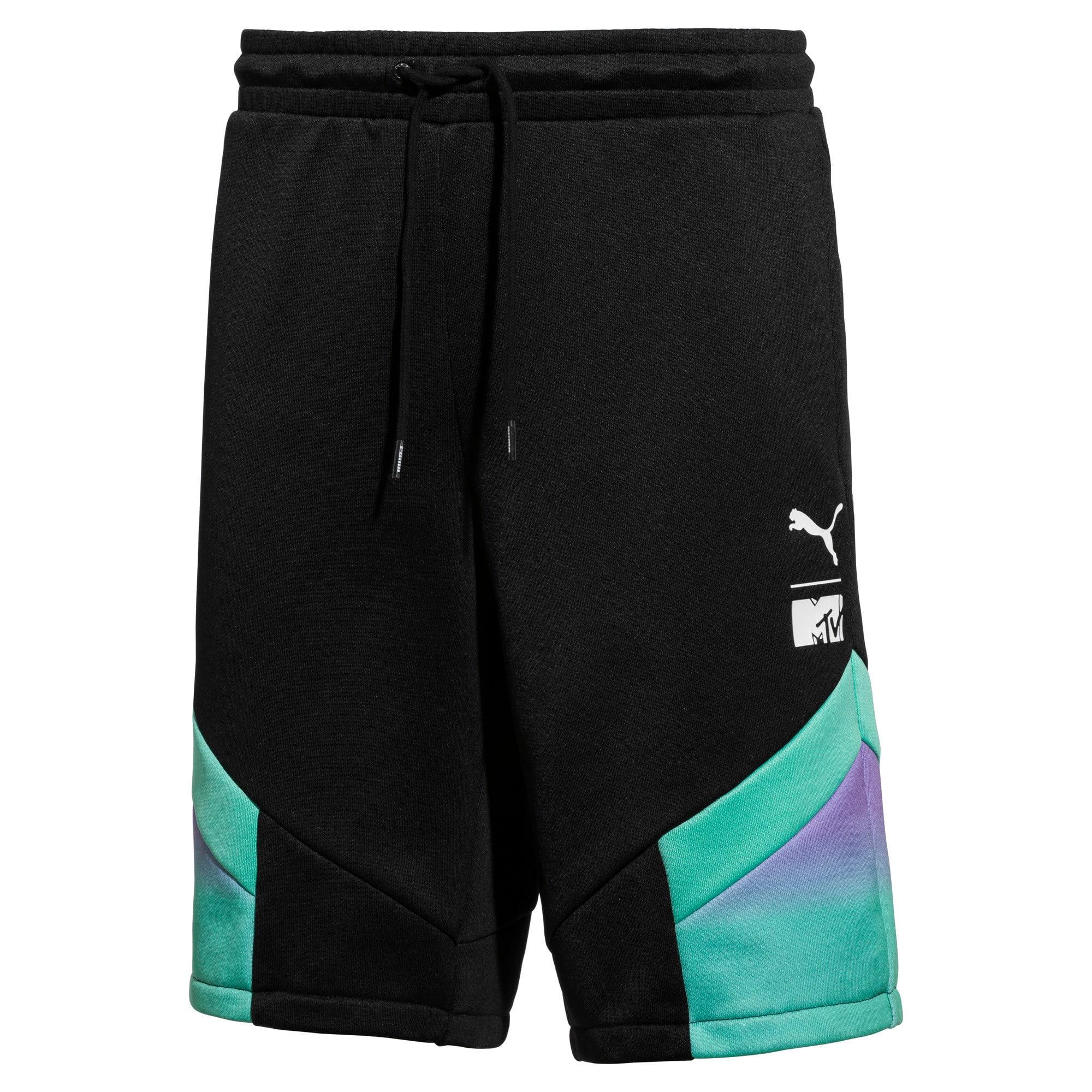 Thumbnail 1 of PUMA x MTV MCS Men's AOP Shorts, Puma Black-AOP, medium