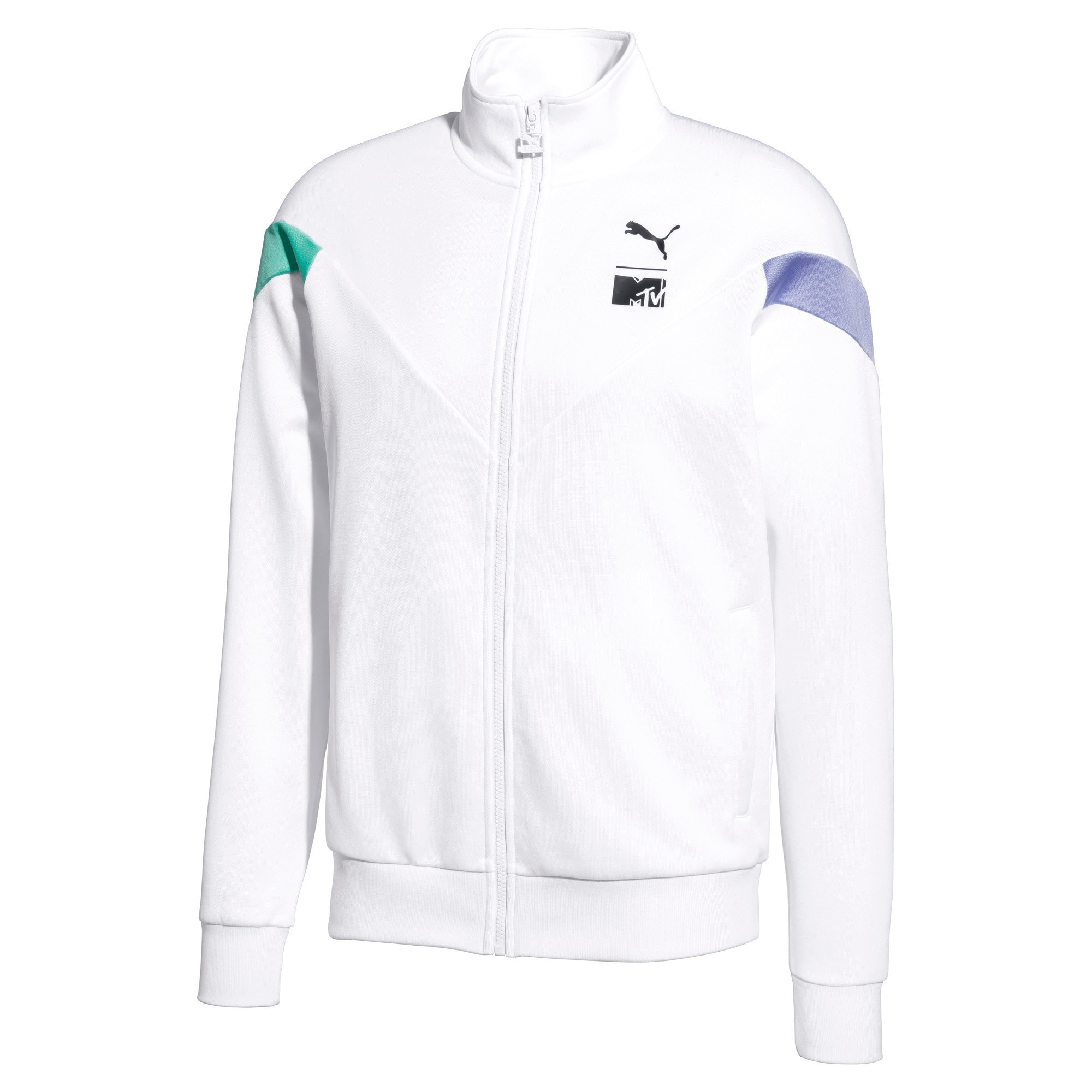 Thumbnail 1 of PUMA x MTV MCS Men's Track Jacket, Puma White, medium