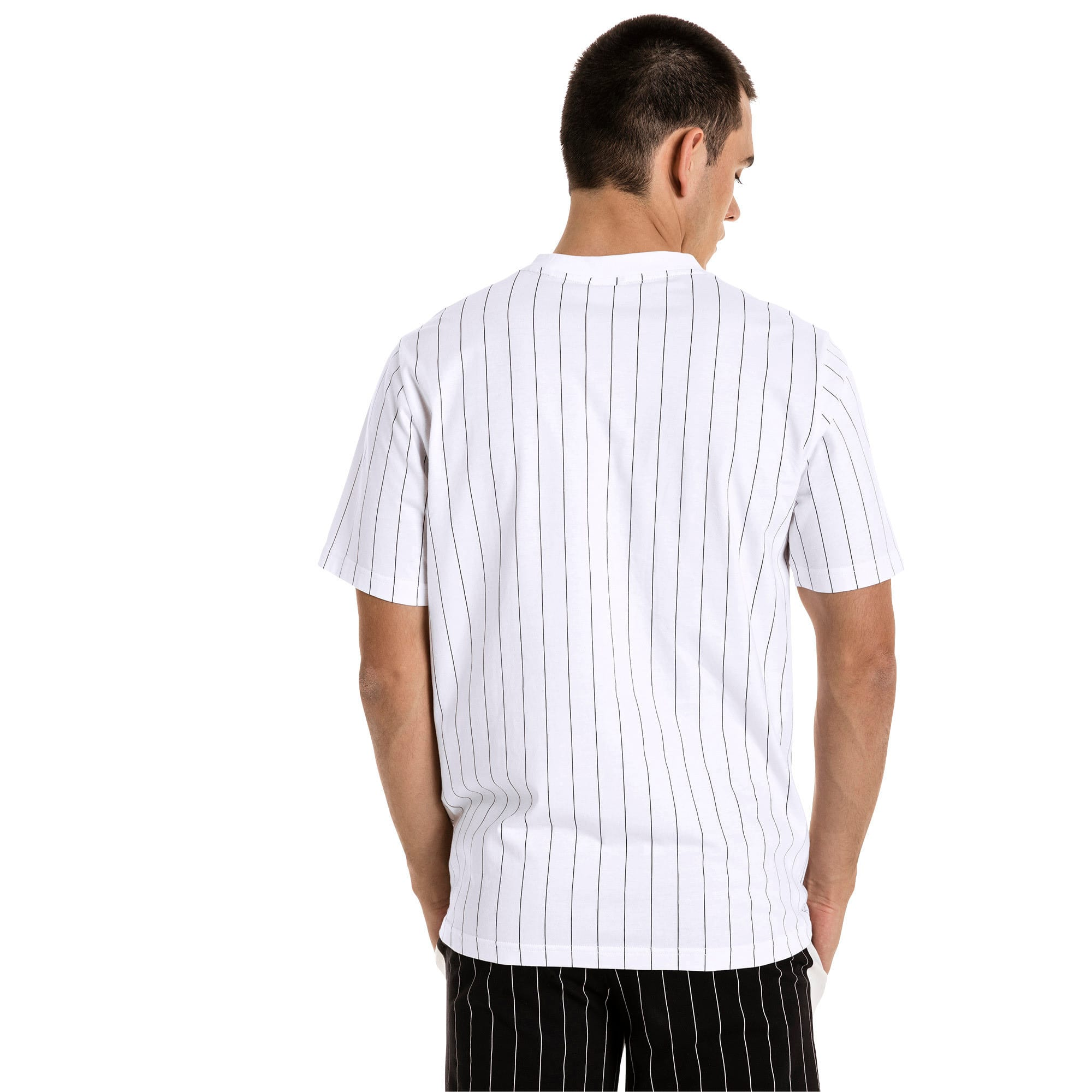 Thumbnail 3 of Archive Pinstripe Herren T-Shirt, Puma White, medium