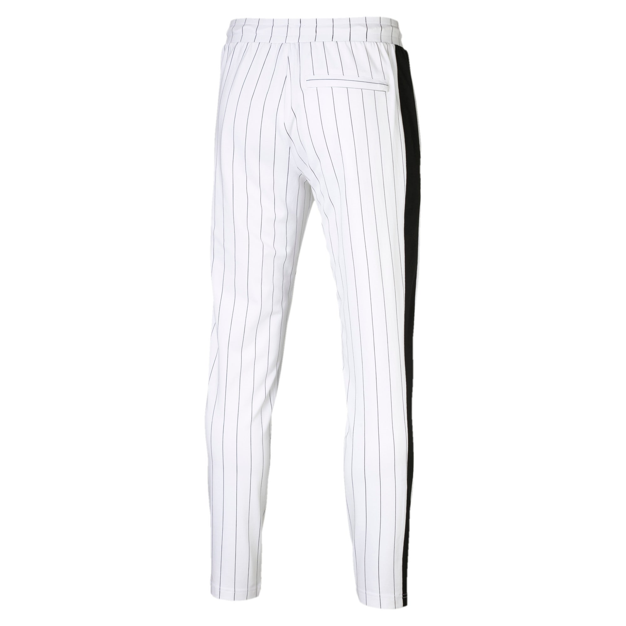 Thumbnail 4 of Archive Pinstripe T7 Men's Track Pants, Puma White-AOP, medium