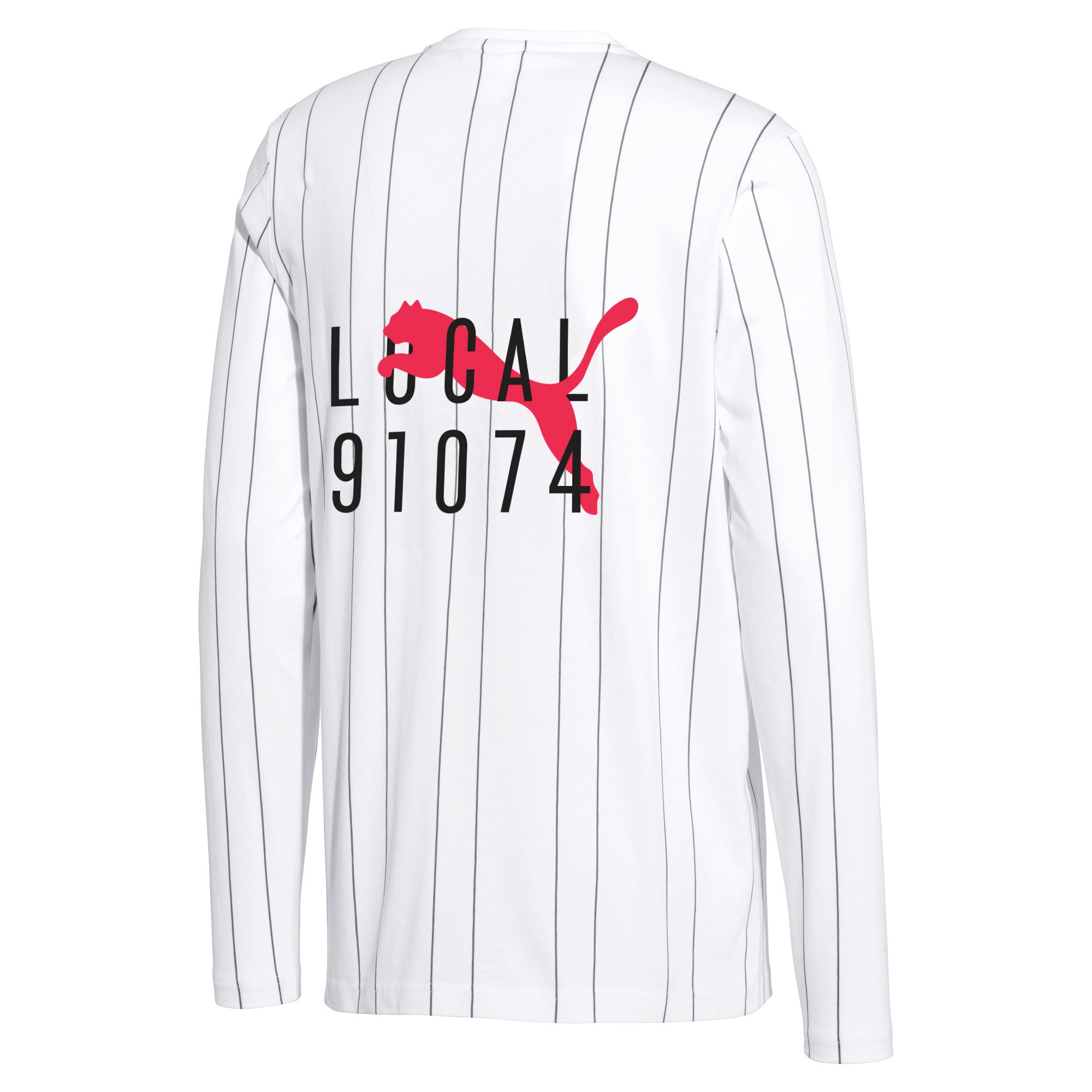 Thumbnail 2 of PUMA 91074 Men's Long Sleeve Tee, Puma White--AOP, medium