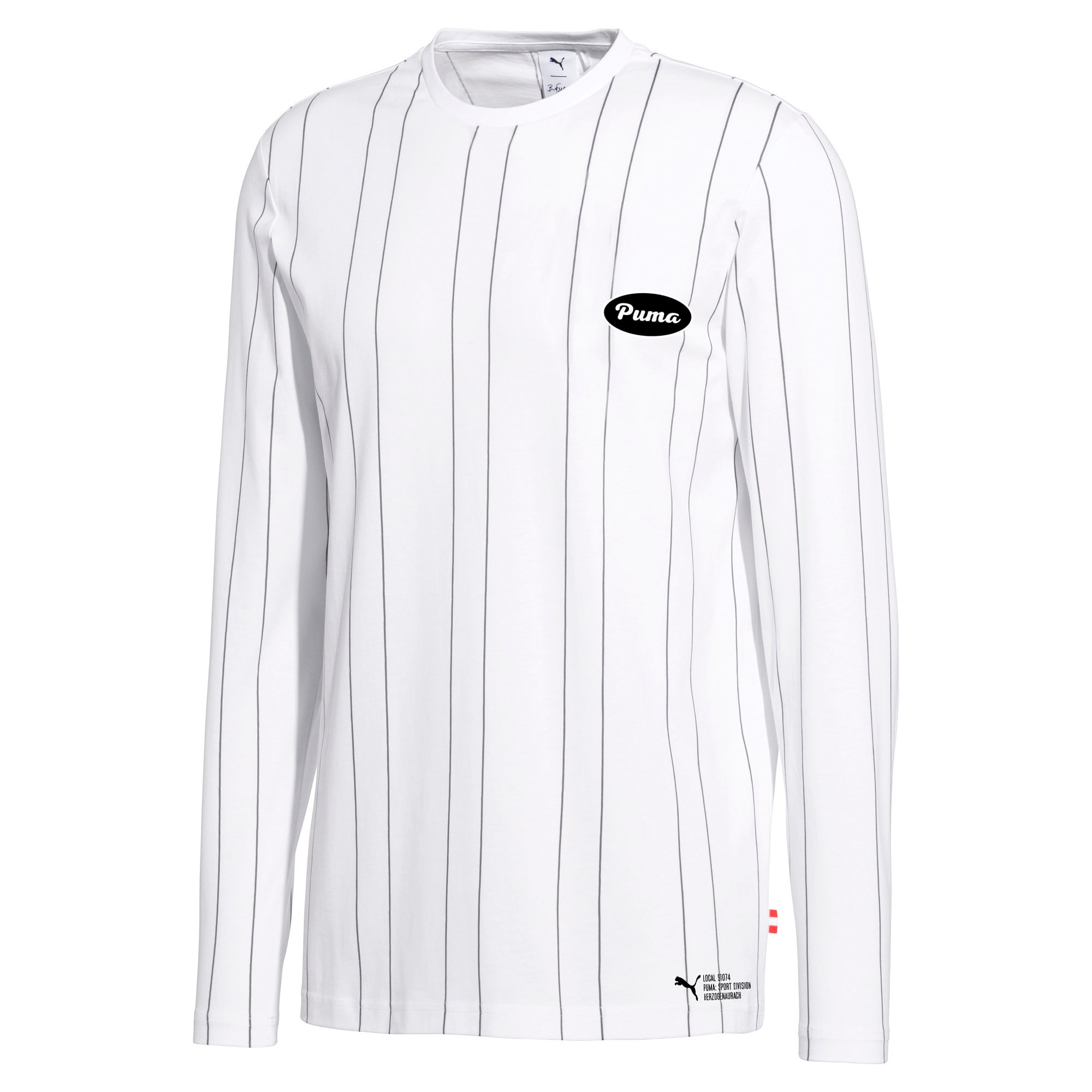 Thumbnail 1 of PUMA 91074 Men's Long Sleeve Tee, Puma White--AOP, medium
