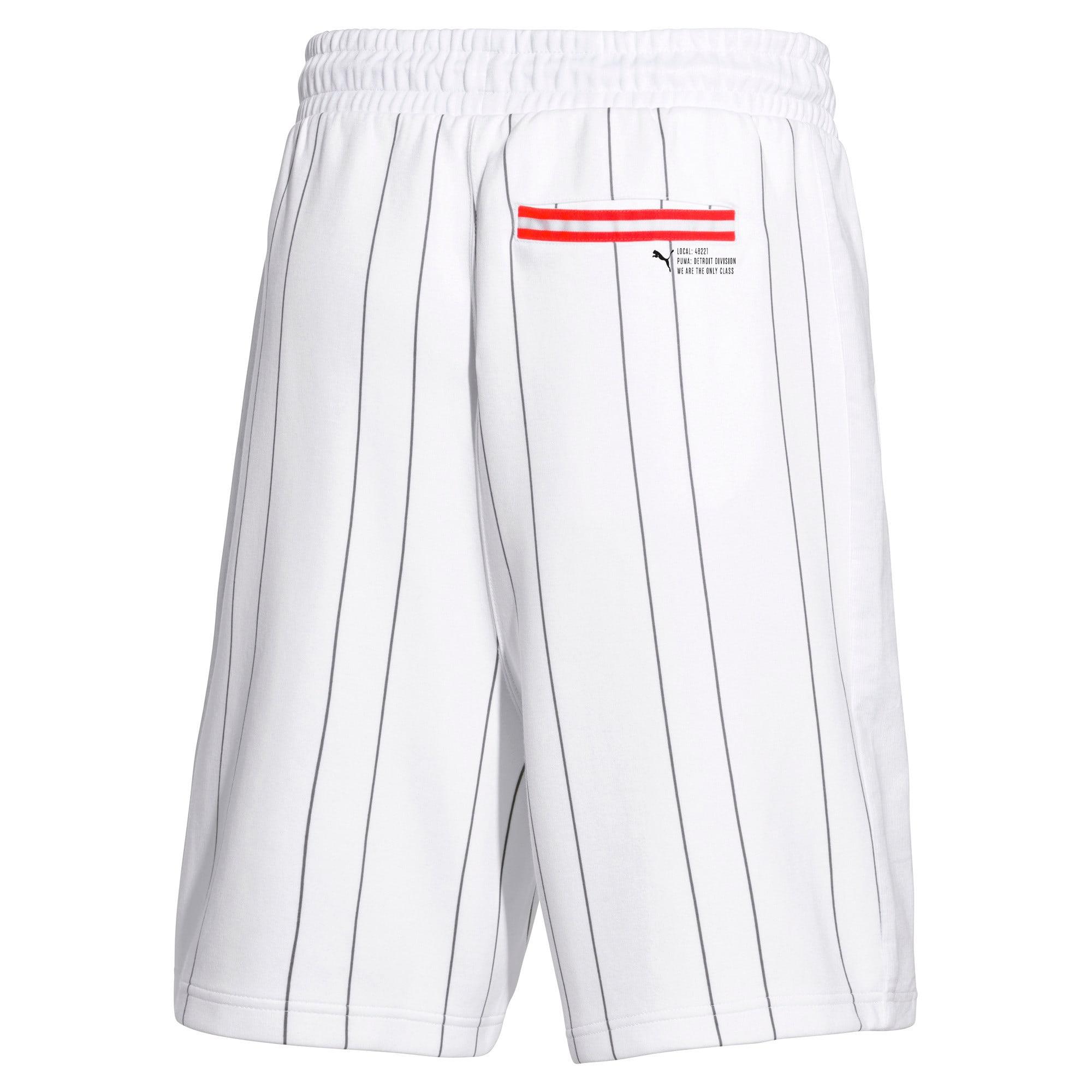 Thumbnail 2 of PUMA 91074 Men's Striped Shorts, Puma White--AOP, medium