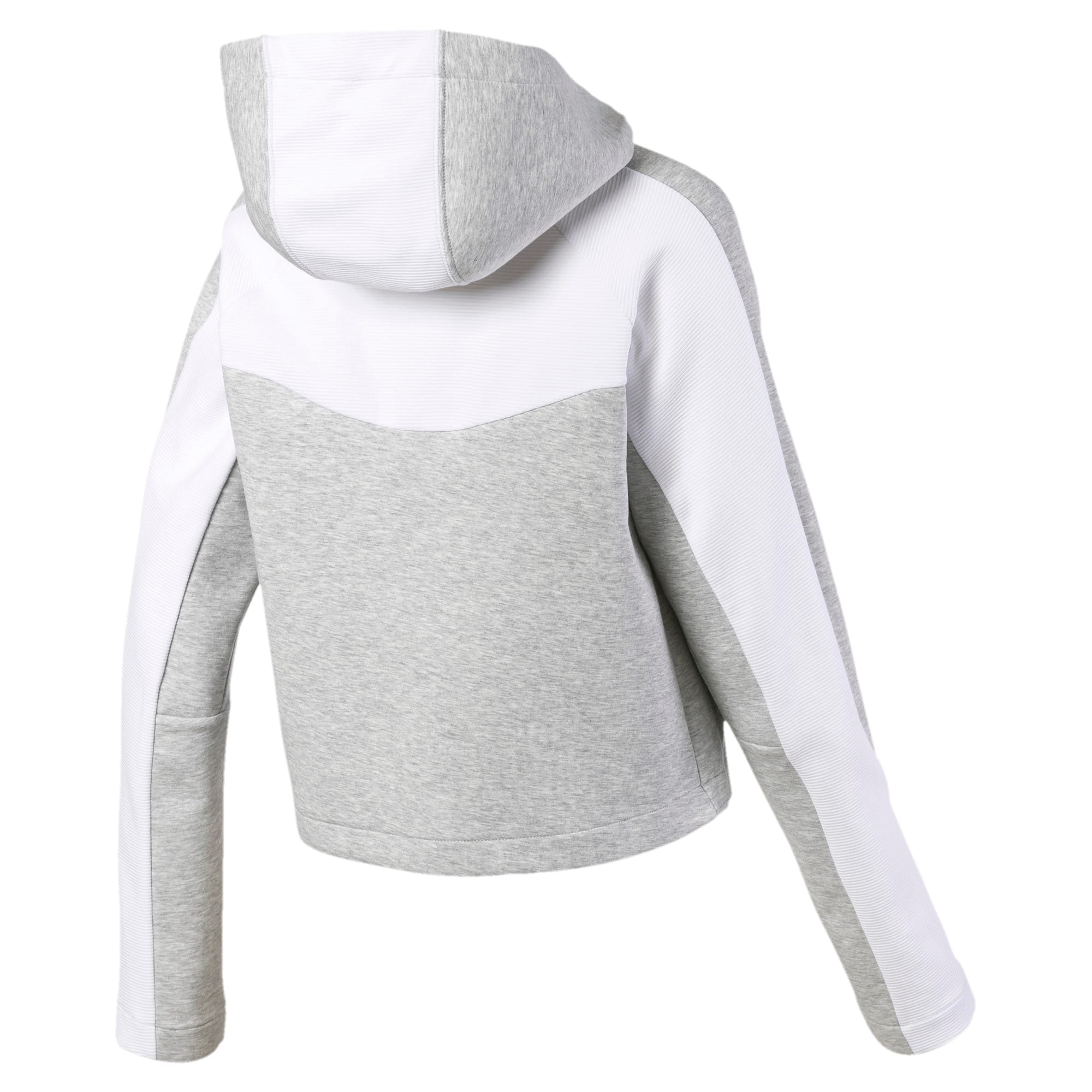 Thumbnail 5 of Evostripe Long Sleeve Women's Hoodie, Light Gray Heather, medium