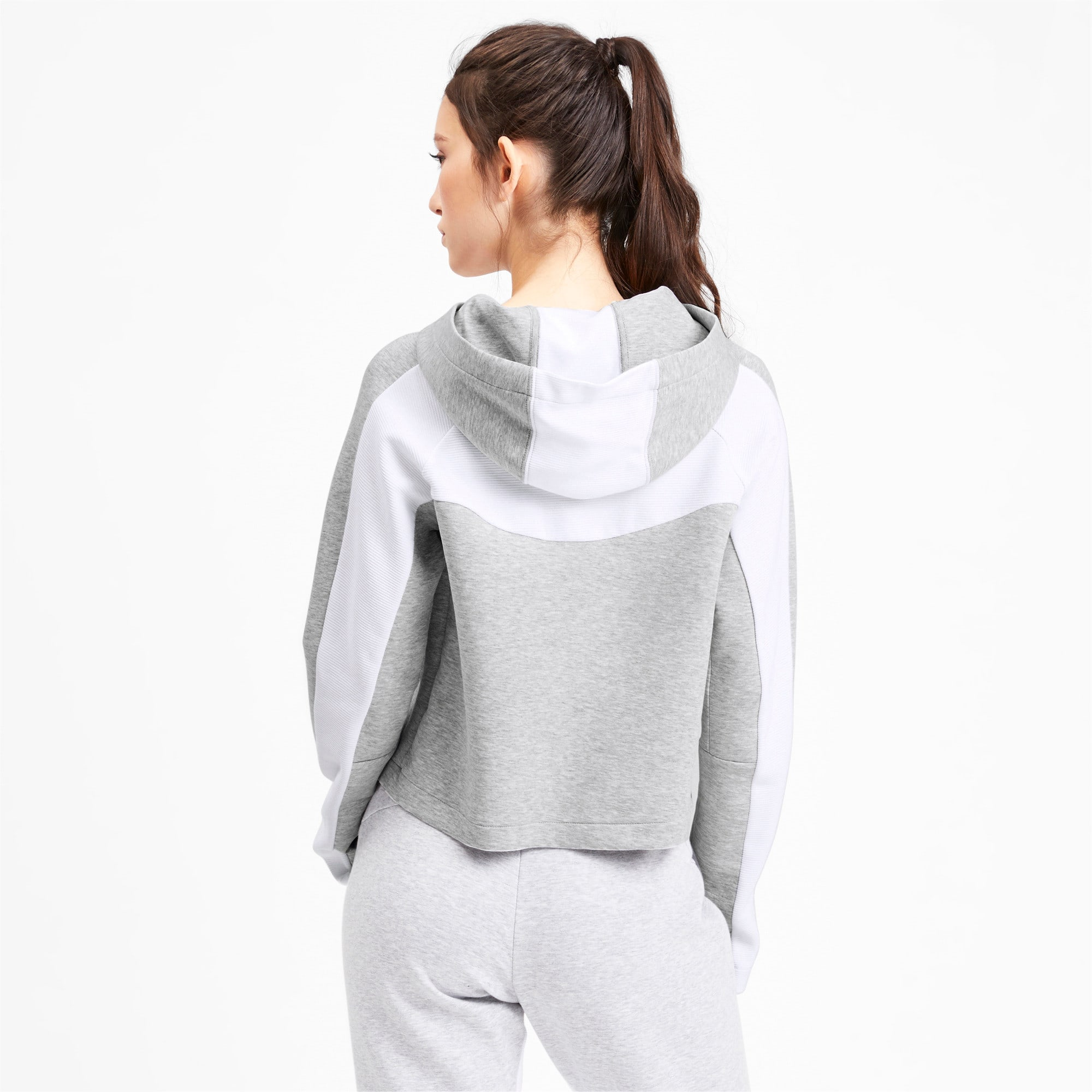 Thumbnail 2 of Evostripe Long Sleeve Women's Hoodie, Light Gray Heather, medium