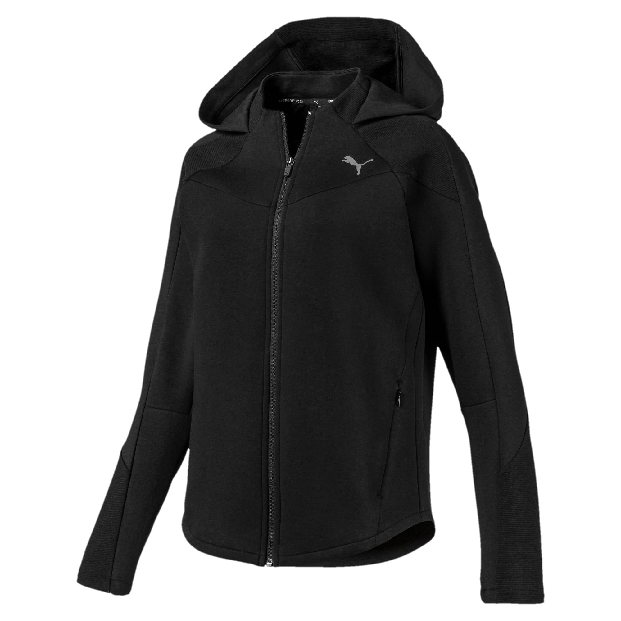 Thumbnail 4 of Evostripe Damen Sweatjacke mit Kapuze, Puma Black, medium
