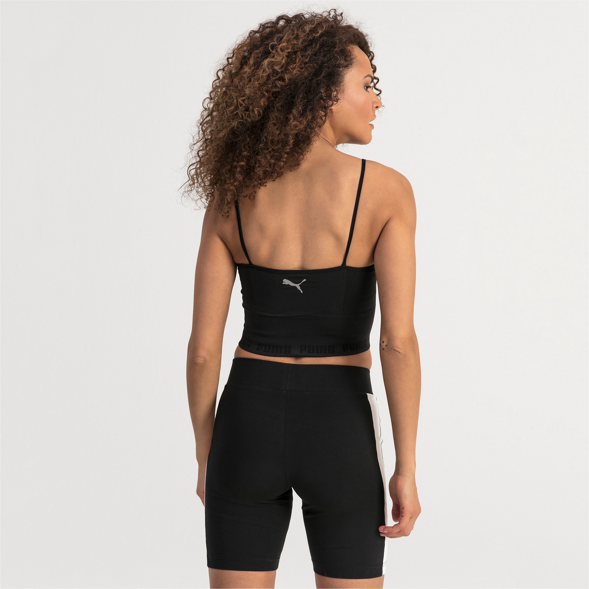 Thumbnail 2 of evoKNIT Seamless Women's Crop Top, Puma Black, medium