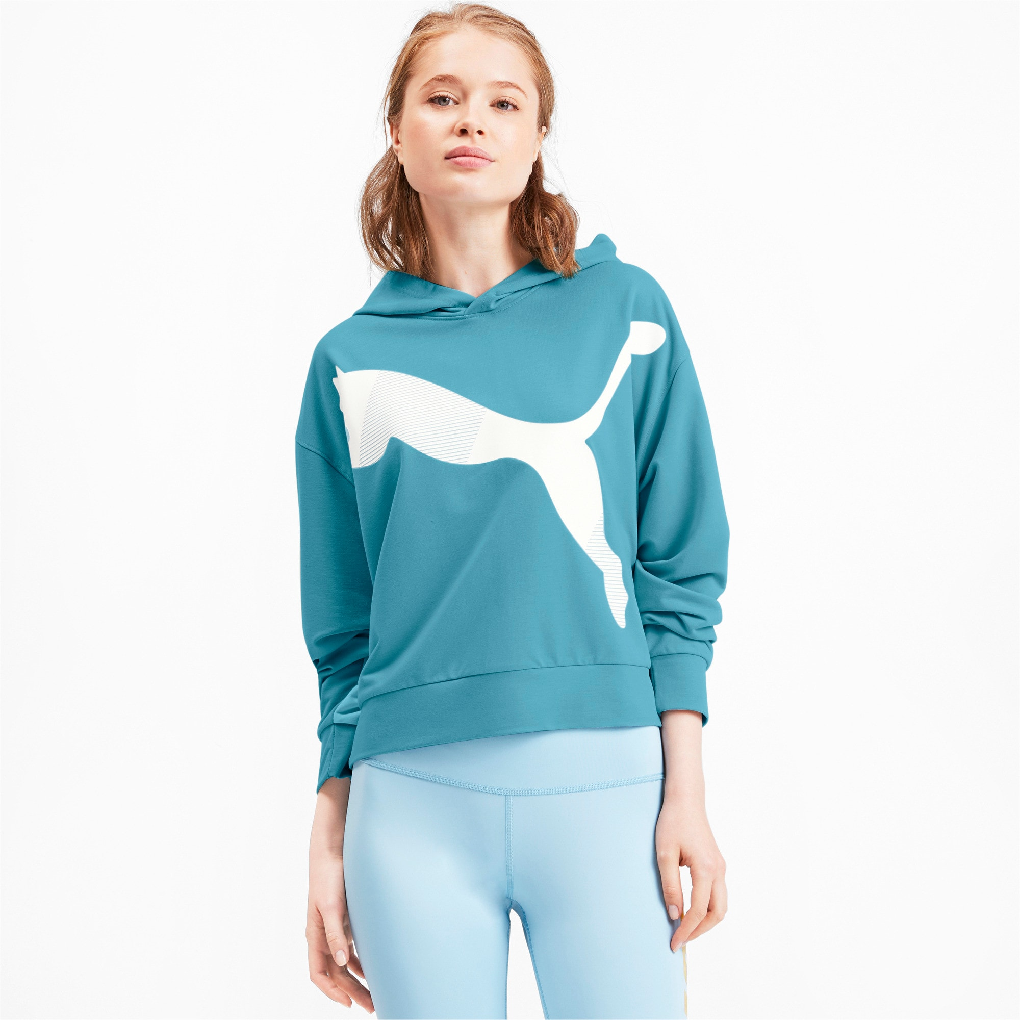 Thumbnail 2 of Modern Sports Women's Hoodie, Milky Blue, medium