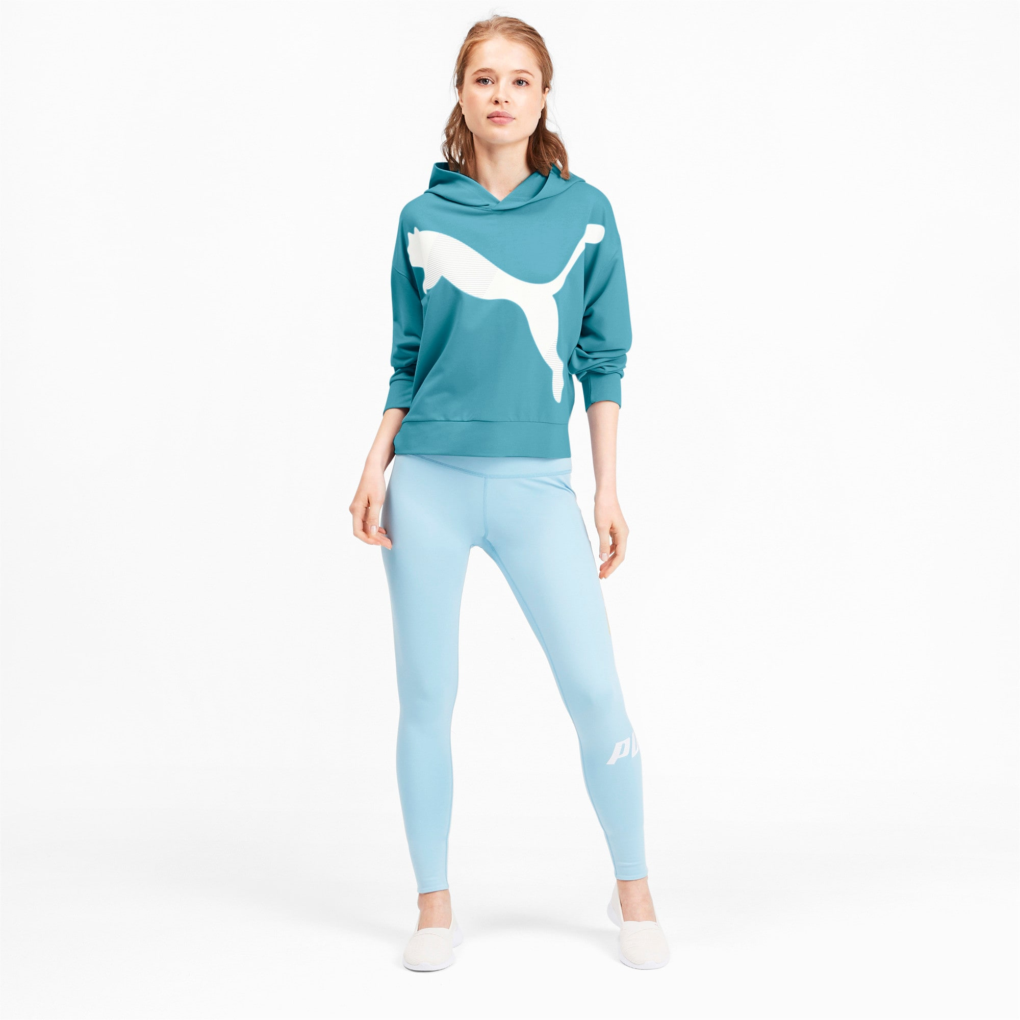 Thumbnail 4 of Modern Sports Women's Hoodie, Milky Blue, medium