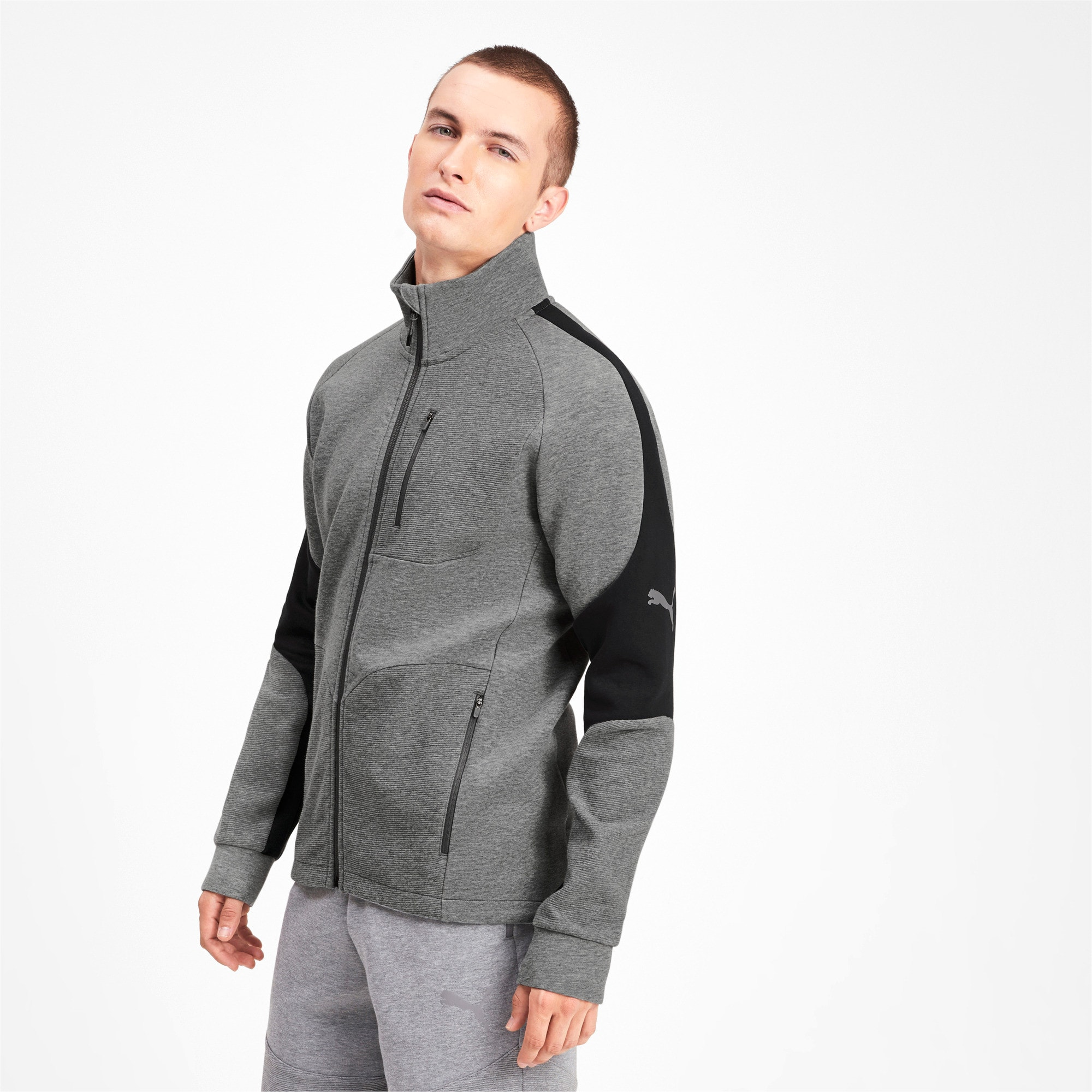 Miniatura 1 de Chaqueta Evostripe para hombre, Medium Gray Heather, mediano