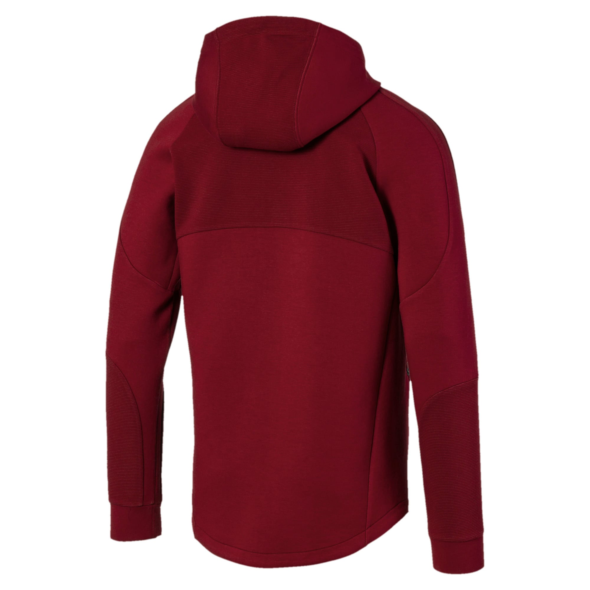 Thumbnail 5 of Evostripe Men's Full Zip Hoodie, Rhubarb, medium