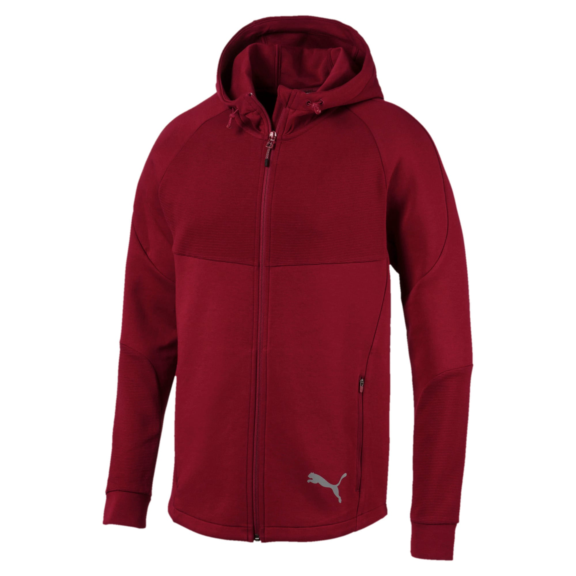 Thumbnail 4 of Evostripe Men's Full Zip Hoodie, Rhubarb, medium