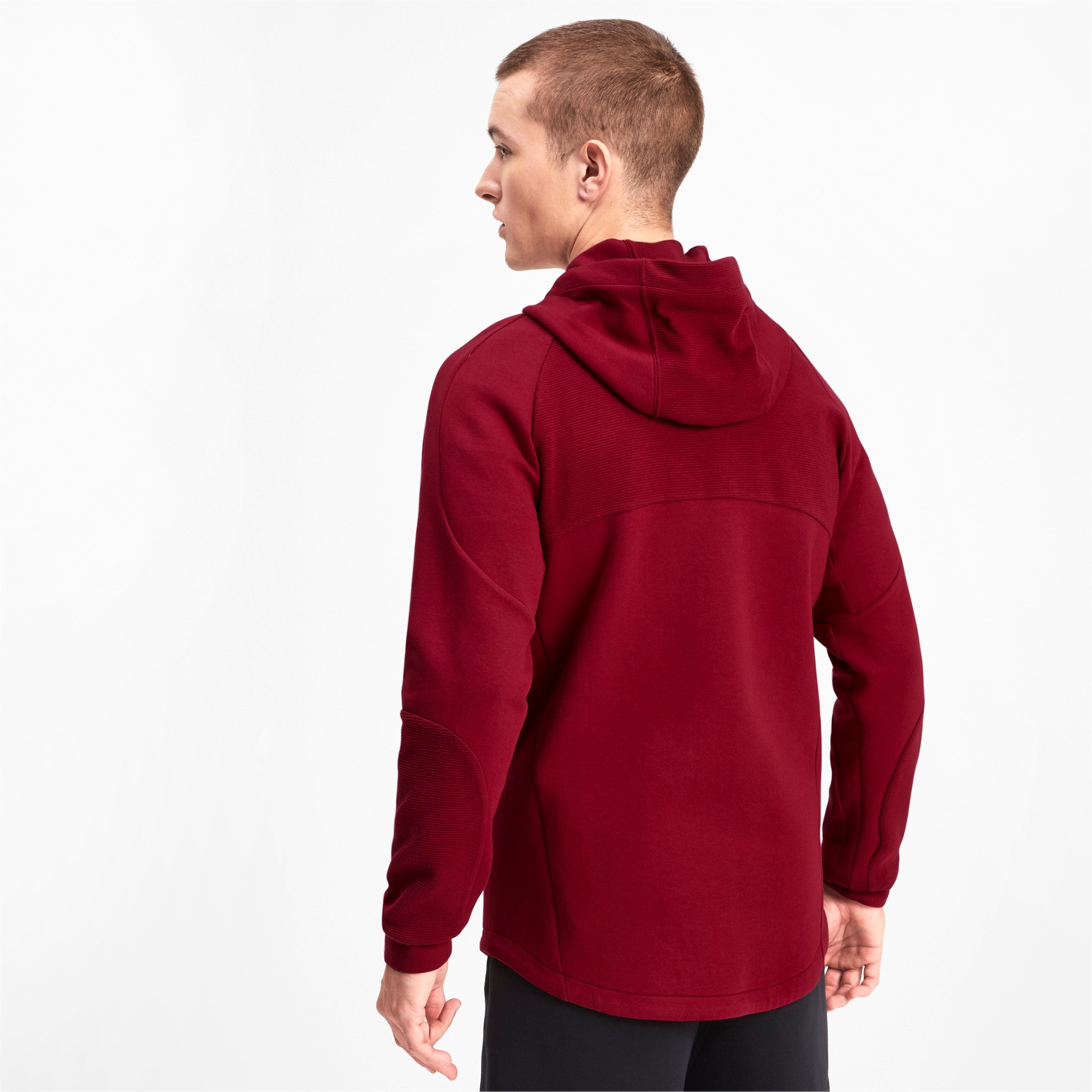 Thumbnail 2 of Evostripe Men's Full Zip Hoodie, Rhubarb, medium