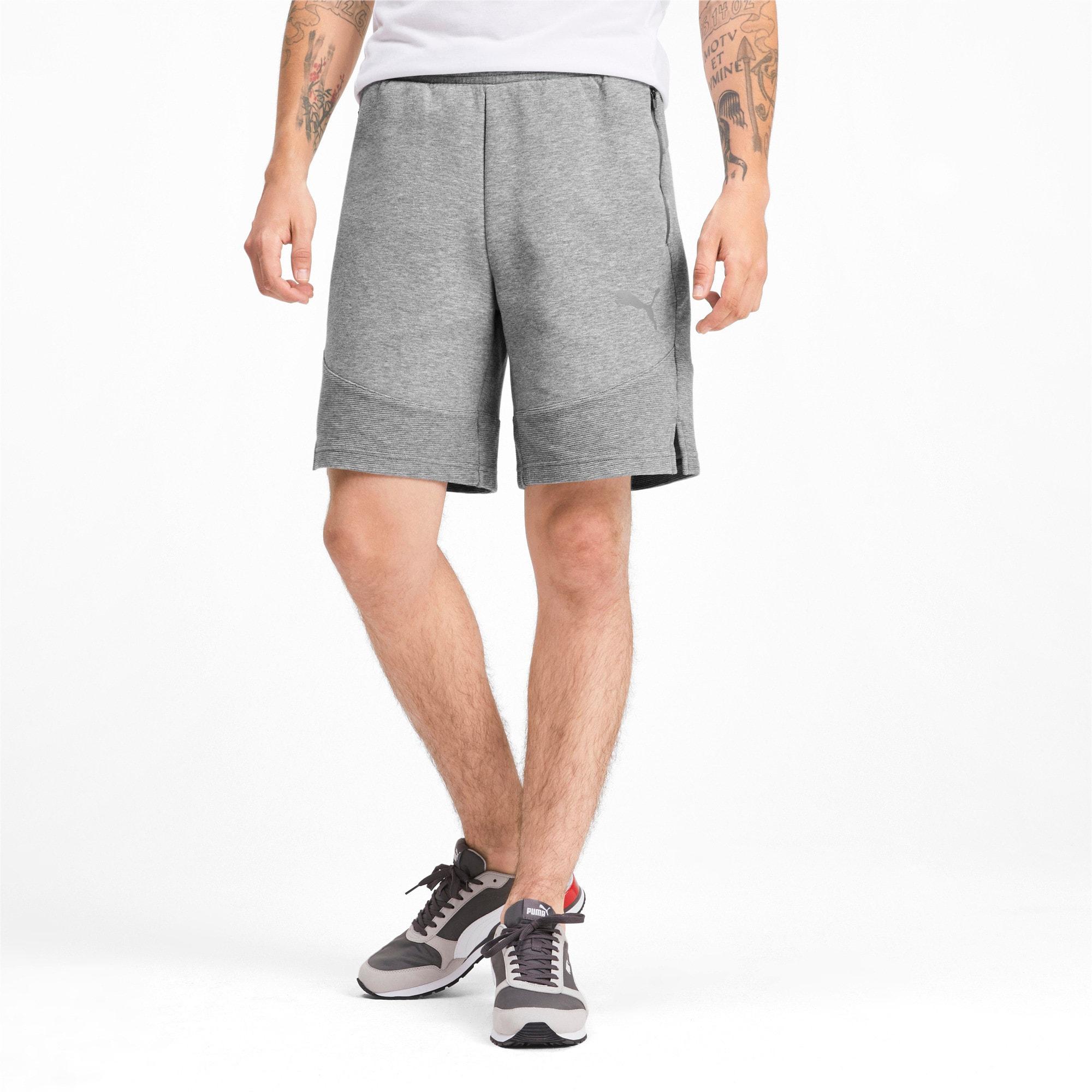 Thumbnail 1 of Evostripe Men's Shorts, Medium Gray Heather, medium