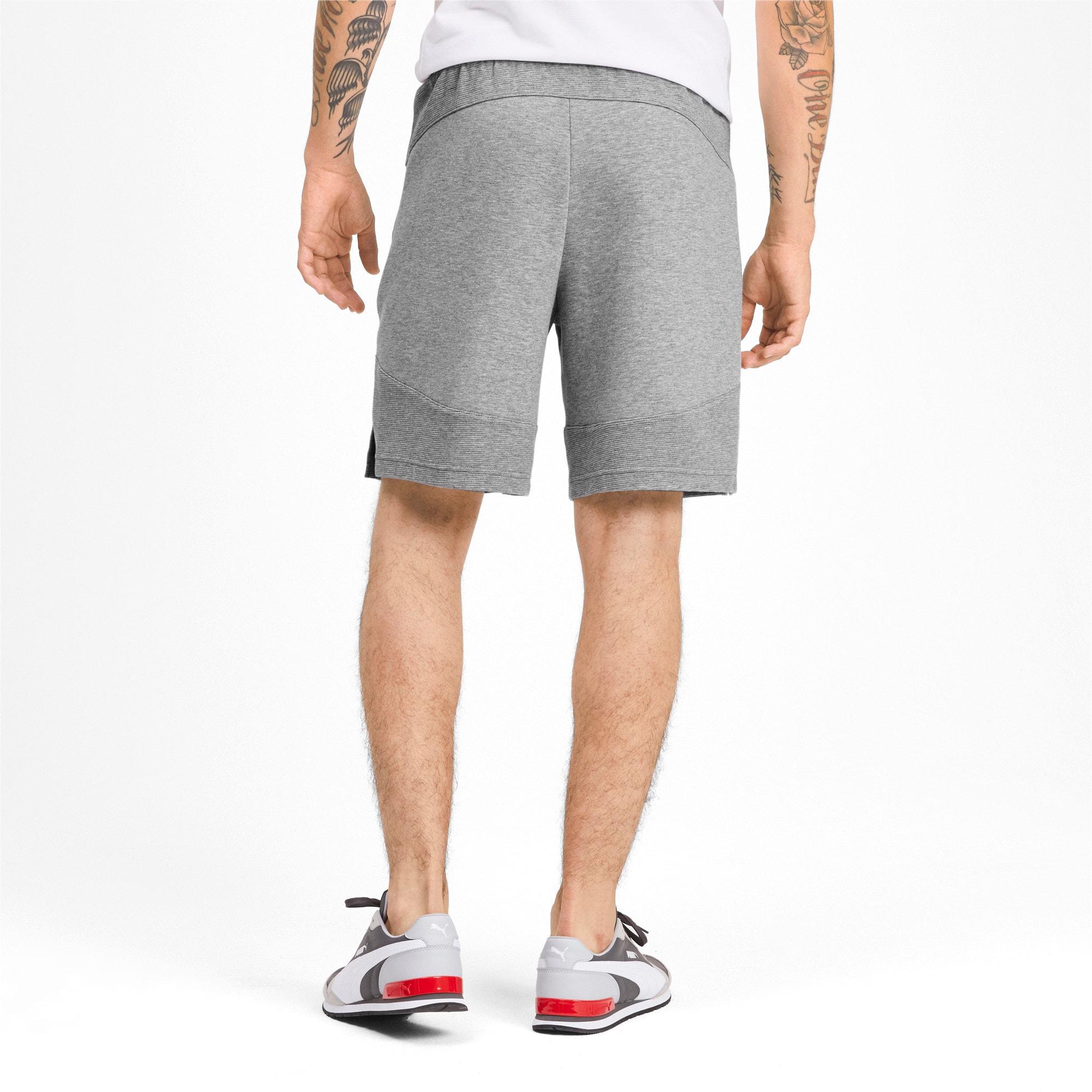 Thumbnail 2 of Evostripe Men's Shorts, Medium Gray Heather, medium