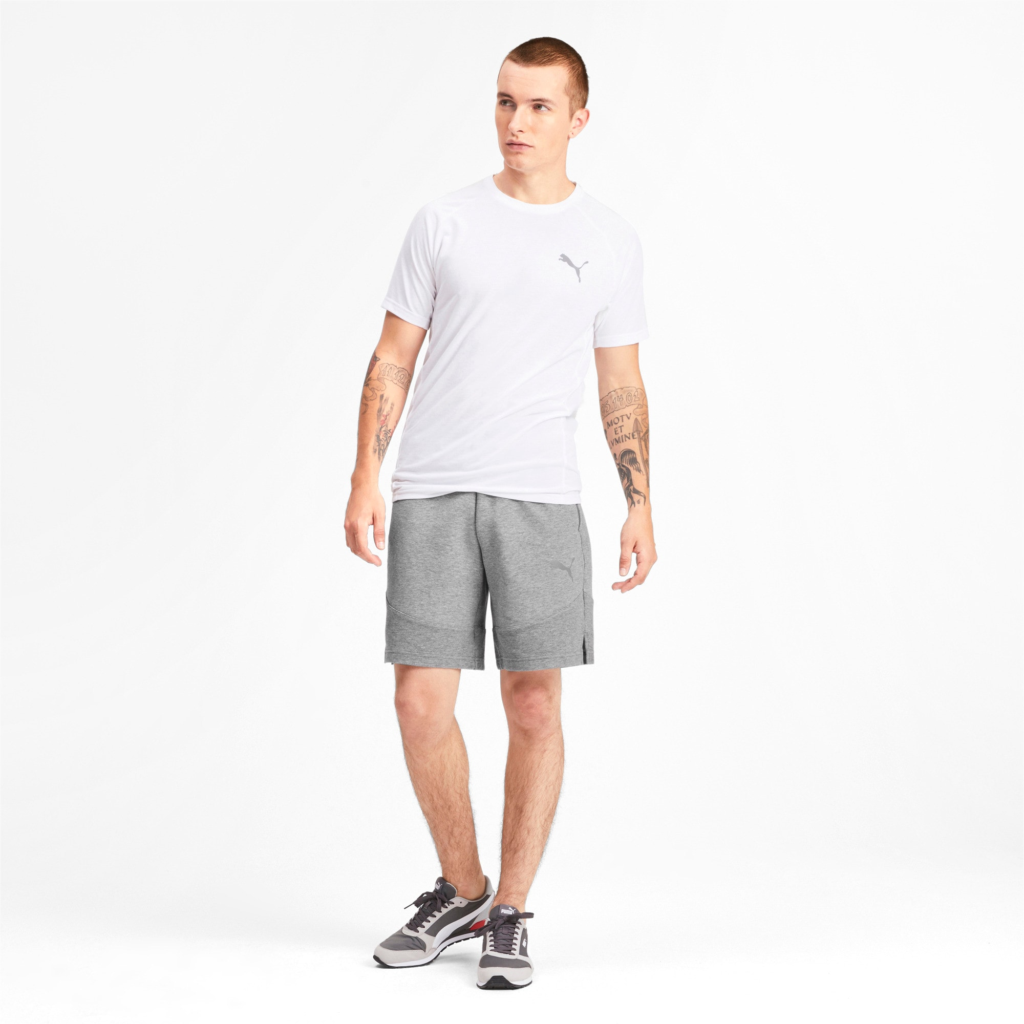 Thumbnail 3 of Evostripe Men's Shorts, Medium Gray Heather, medium