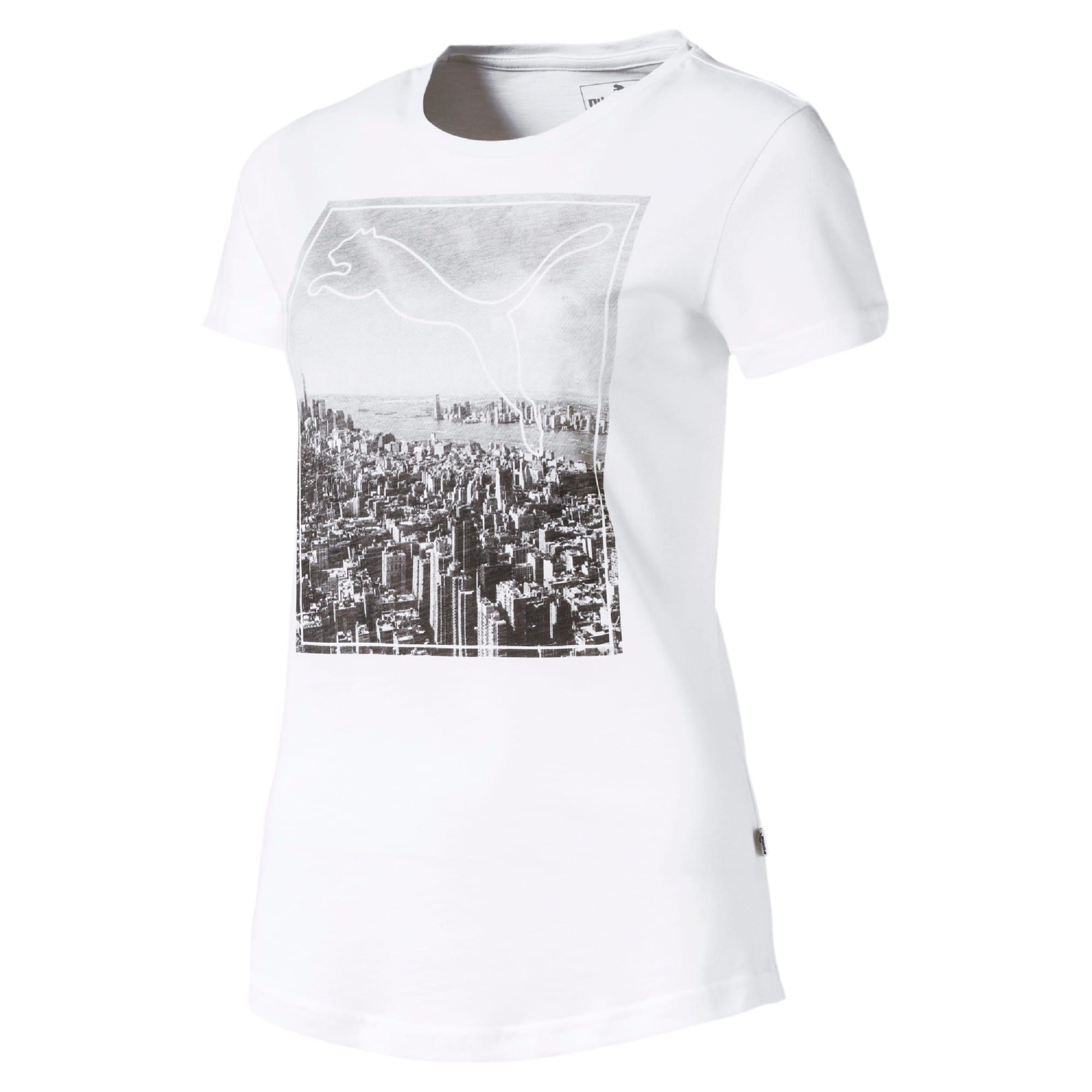 Miniatura 4 de Camiseta estampada Photoprint para mujer, Puma White, mediano