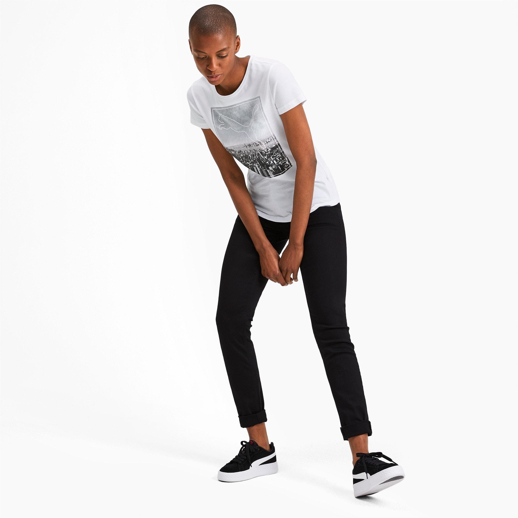 Miniatura 3 de Camiseta estampada Photoprint para mujer, Puma White, mediano