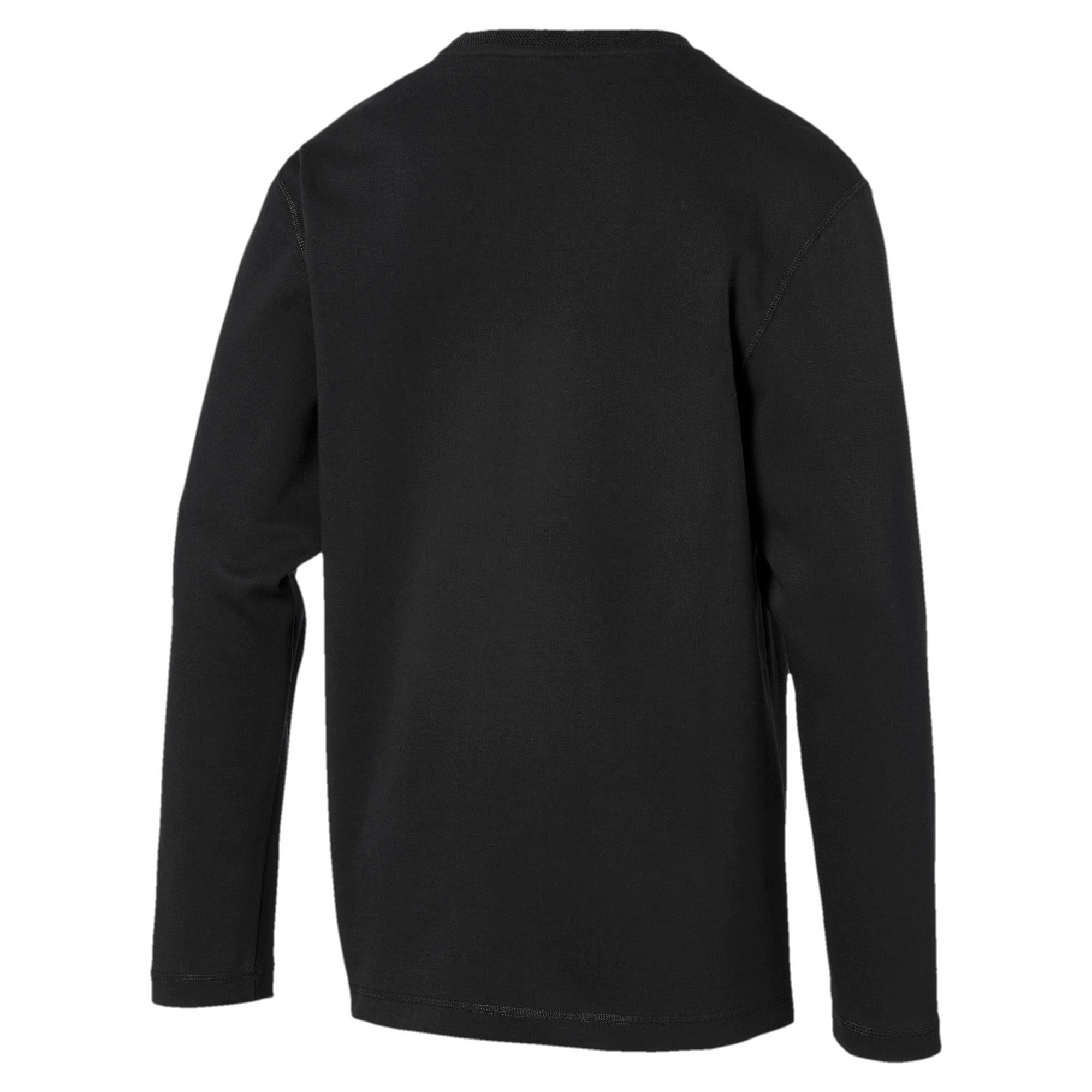 Thumbnail 5 of Fusion Crew Neck Men's Sweater, Puma Black, medium