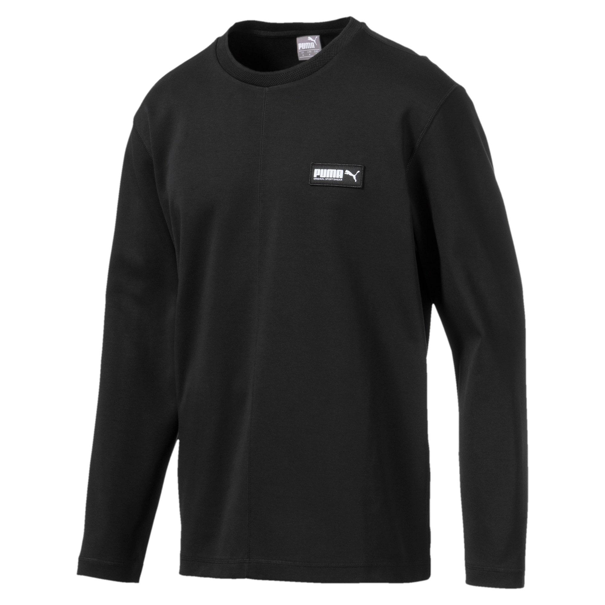 Thumbnail 4 of Fusion Crew Neck Men's Sweater, Puma Black, medium