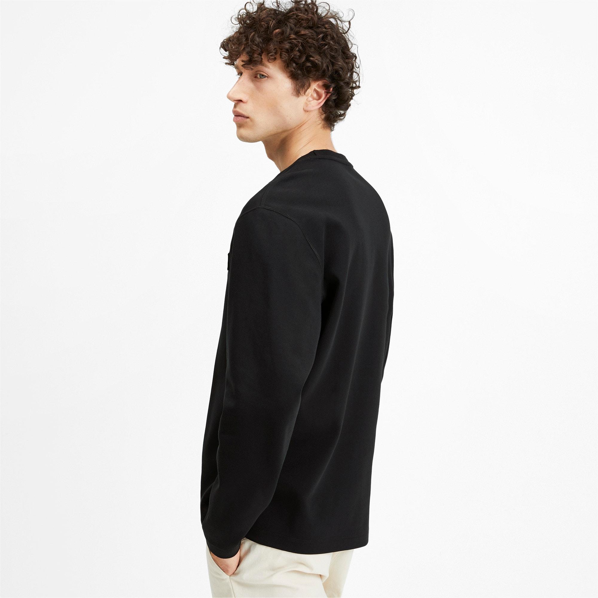Thumbnail 2 of Fusion Crew Neck Men's Sweater, Puma Black, medium