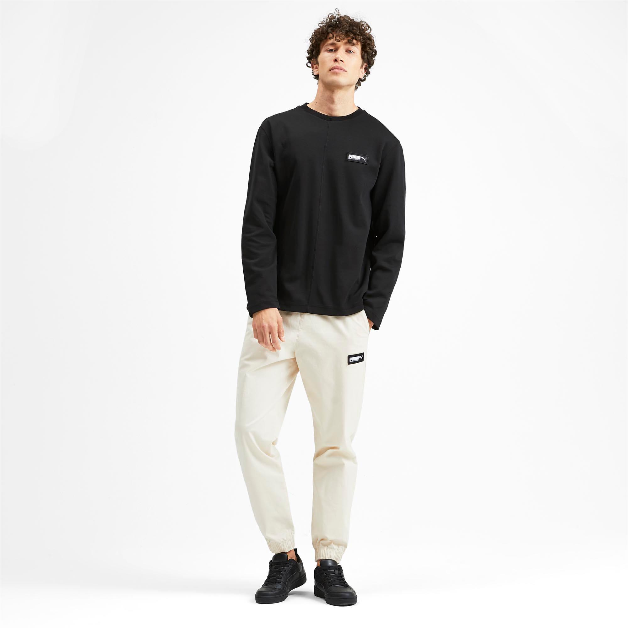 Thumbnail 3 of Fusion Crew Neck Men's Sweater, Puma Black, medium