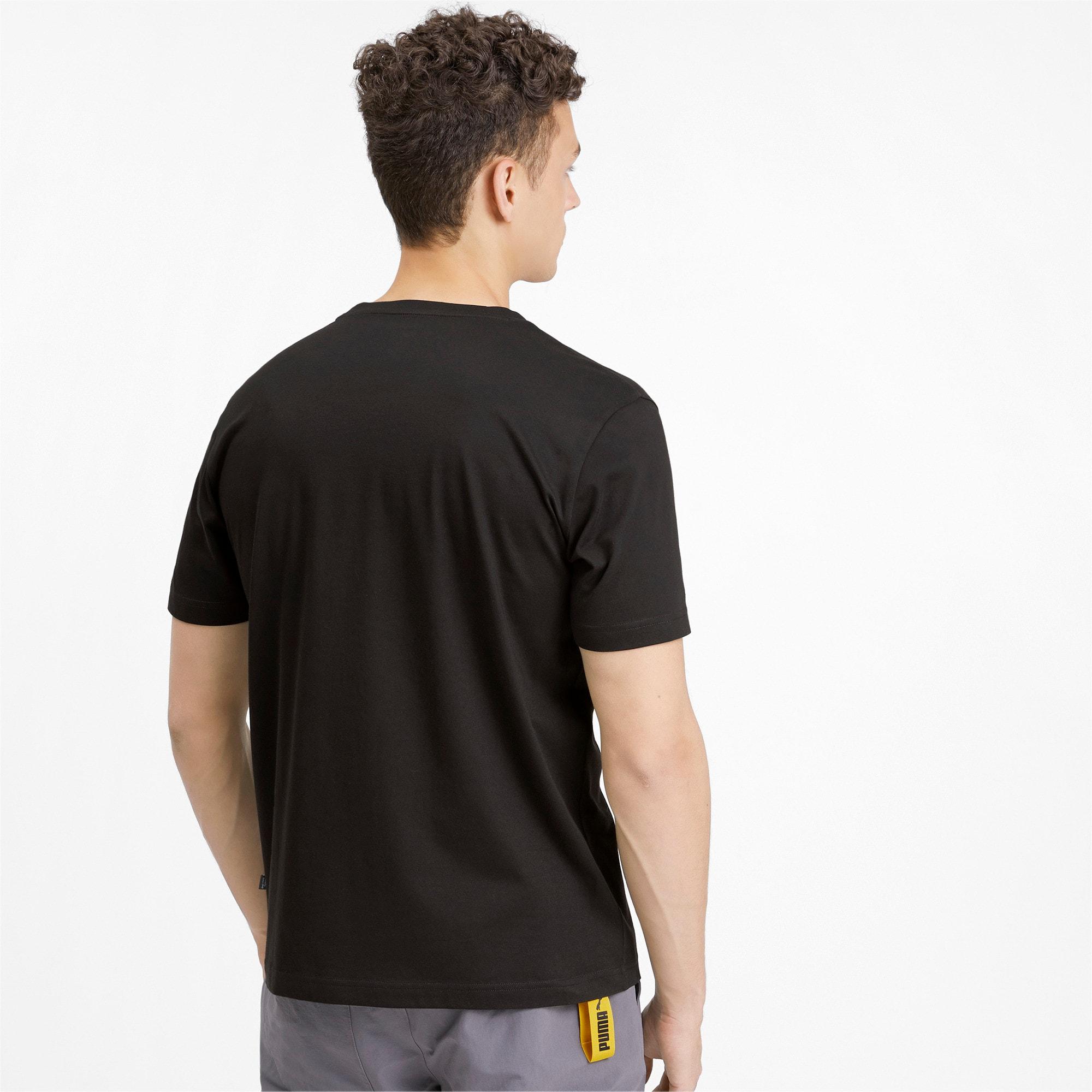 Thumbnail 2 of PUMA Brand Graphic Men's Tee, Puma Black, medium