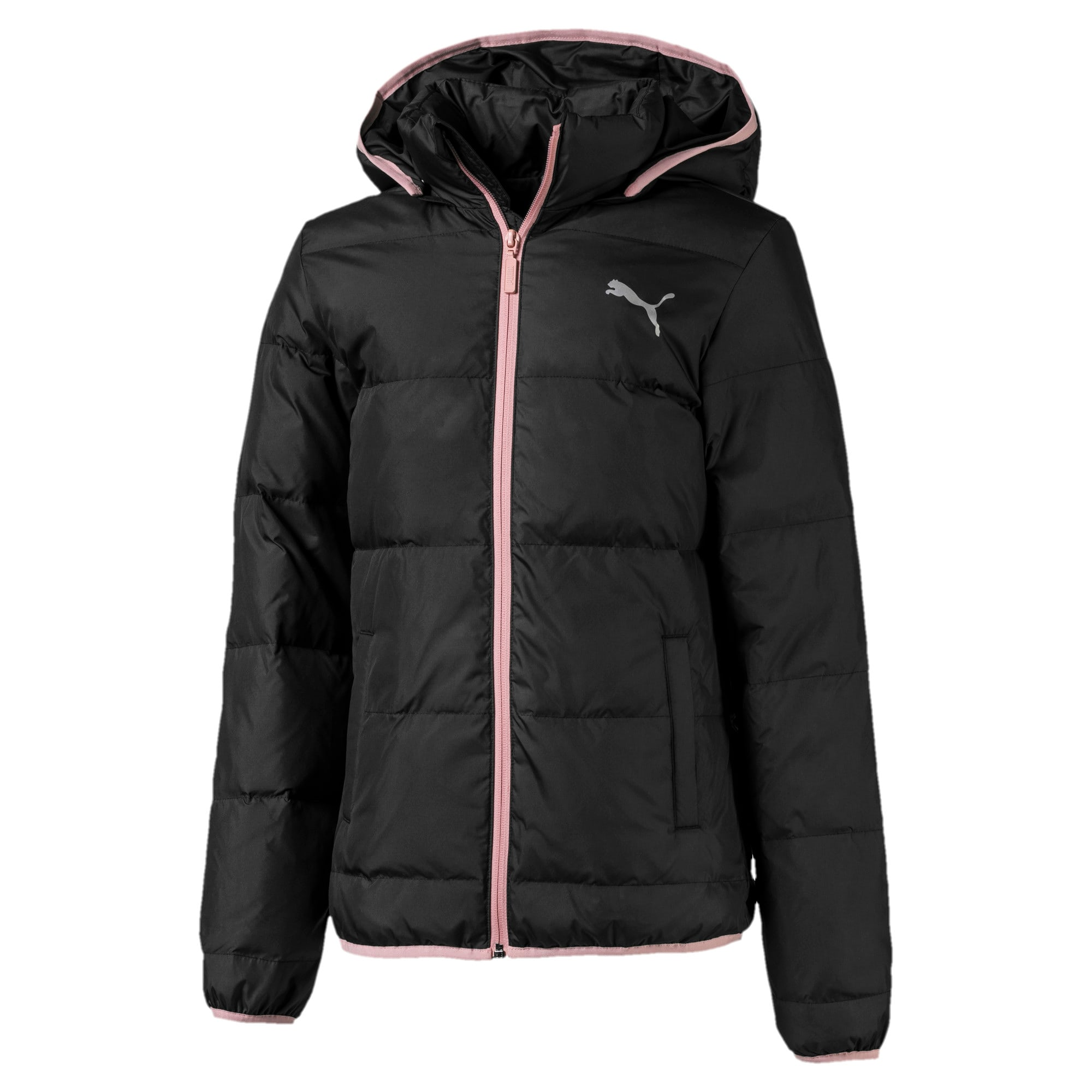 Thumbnail 1 of Light Down Girls' Jacket, Puma Black, medium