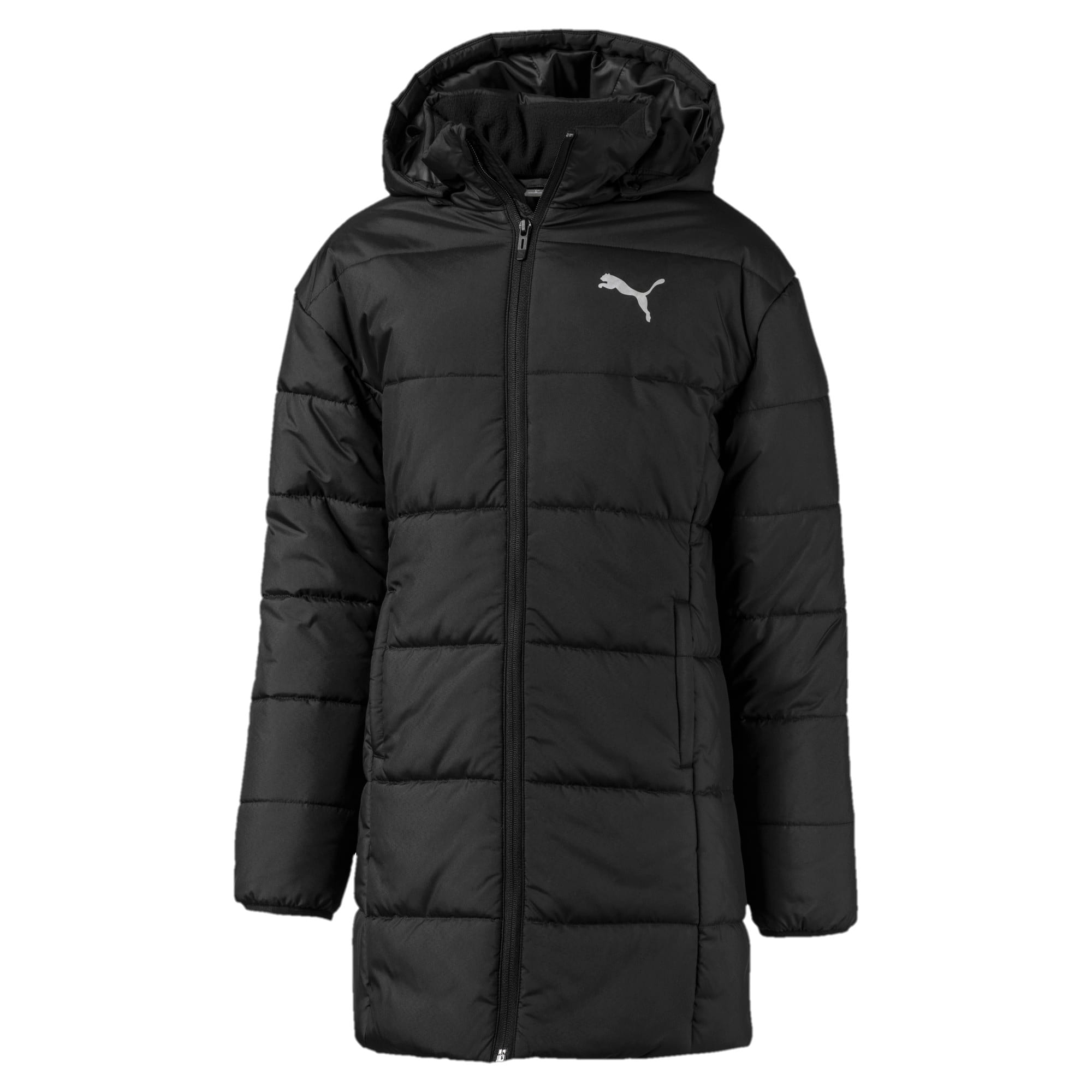 Thumbnail 1 of Hooded Girls' Padded Jacket, Puma Black, medium