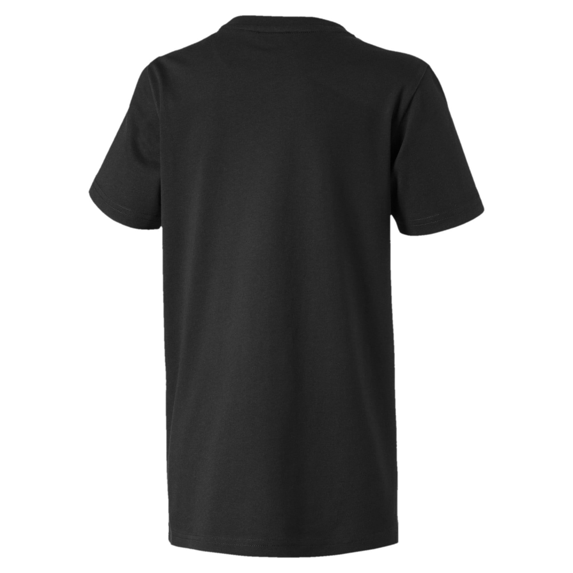 Thumbnail 2 of Alpha Graphic Jungen T-Shirt, Puma Black, medium