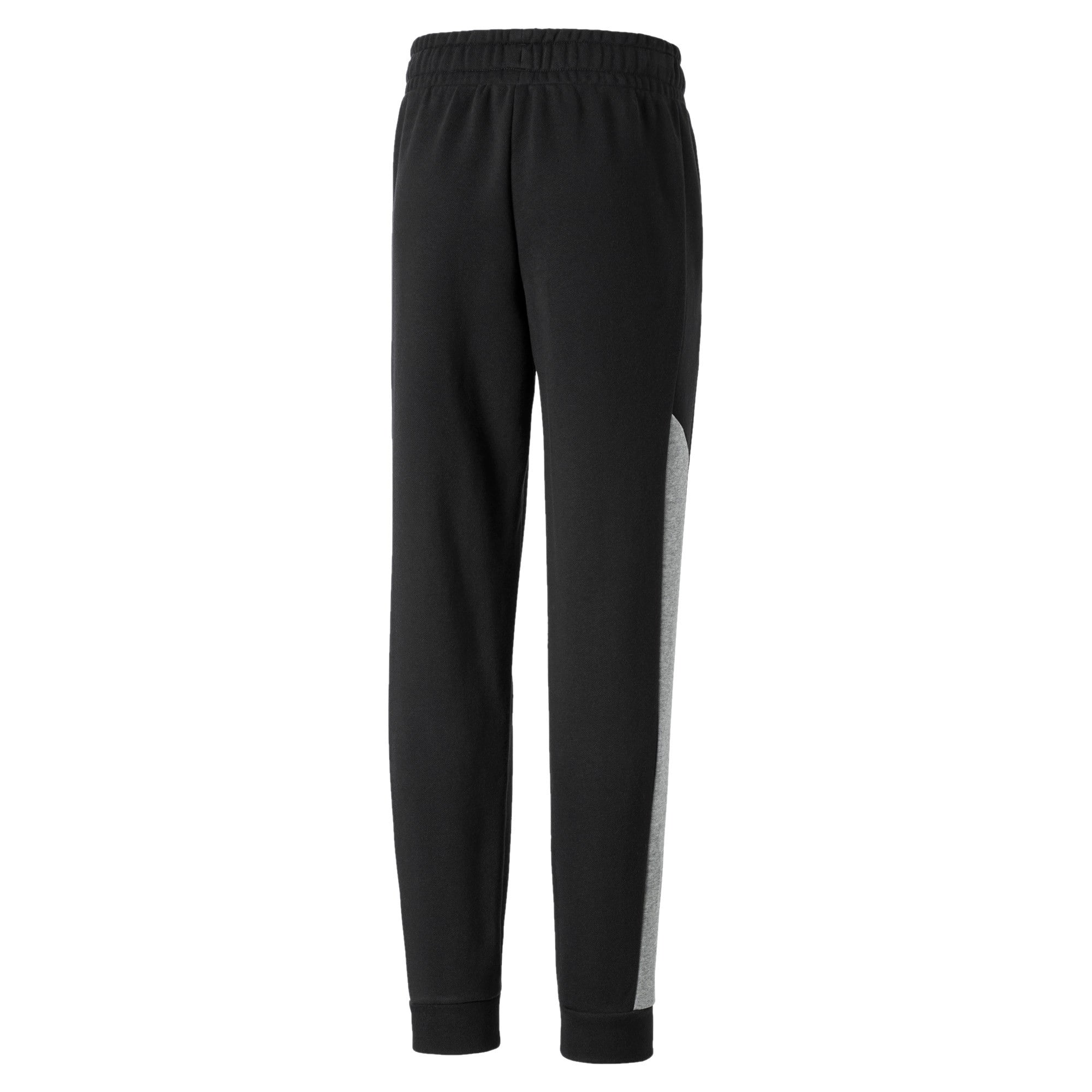 Thumbnail 2 of Alpha Knitted Boys' Sweatpants, Puma Black, medium