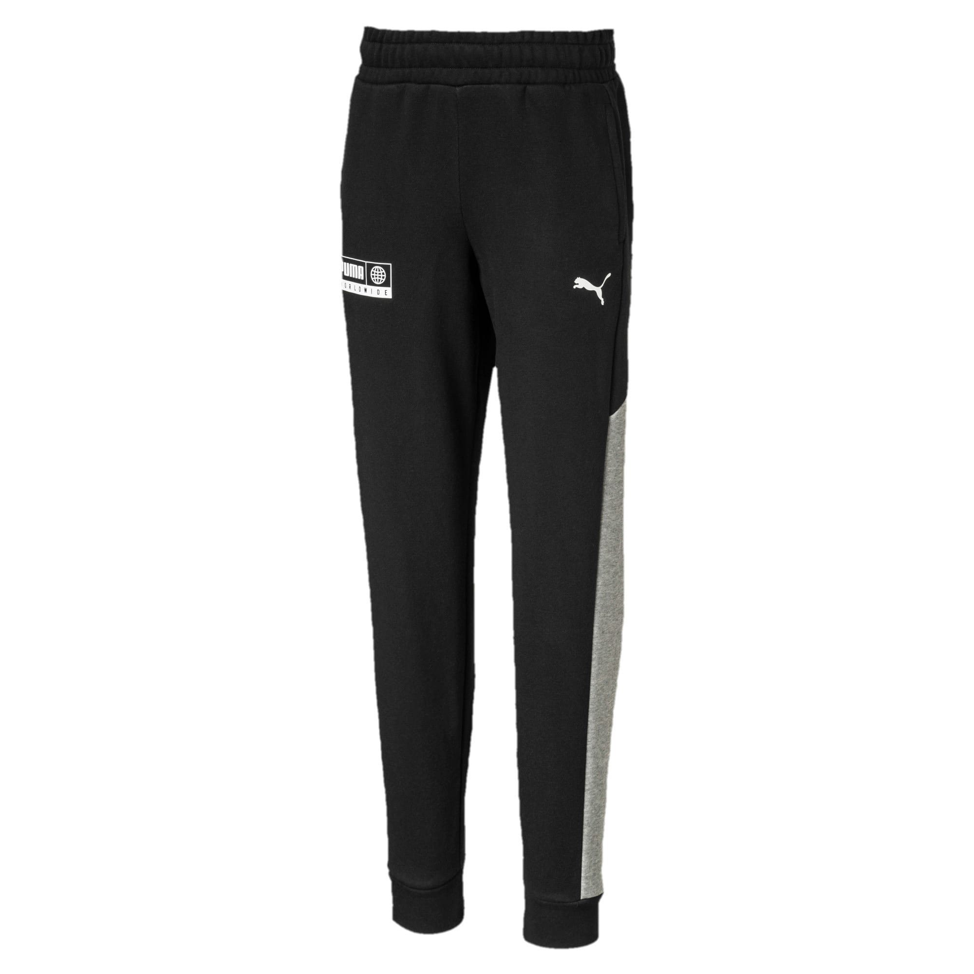 Thumbnail 1 of Alpha Knitted Boys' Sweatpants, Puma Black, medium