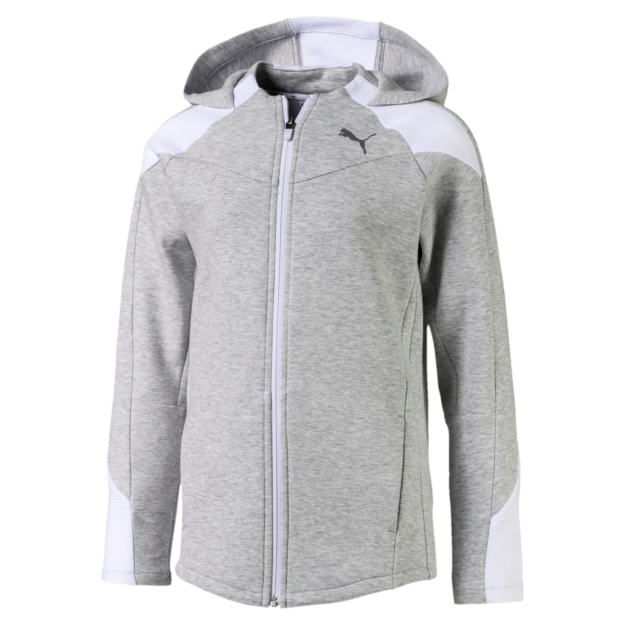 Thumbnail 1 of Evostripe Mädchen Sweatjacke mit Kapuze, Light Gray Heather, medium