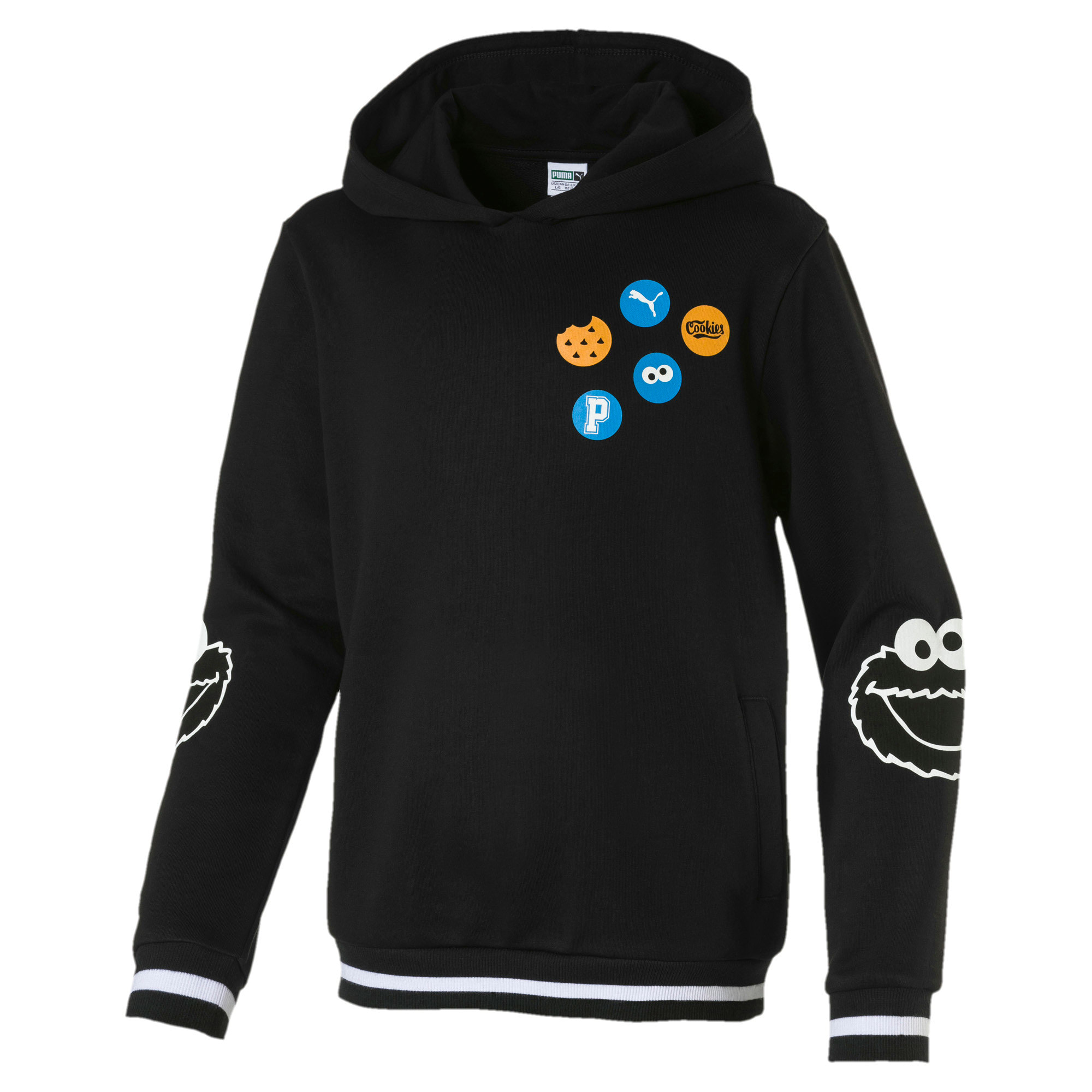 Thumbnail 1 of Sesame Street Boys' Hoodie, Puma Black, medium