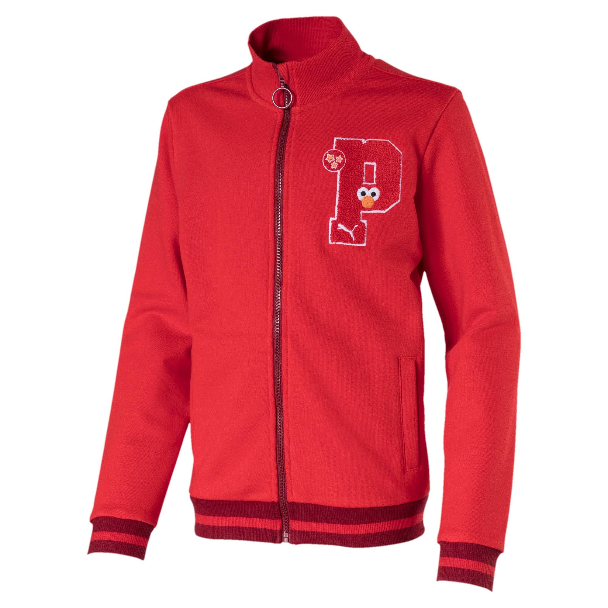 Thumbnail 1 of PUMA x SESAME STREET Kids' Sweat Jacket, High Risk Red, medium