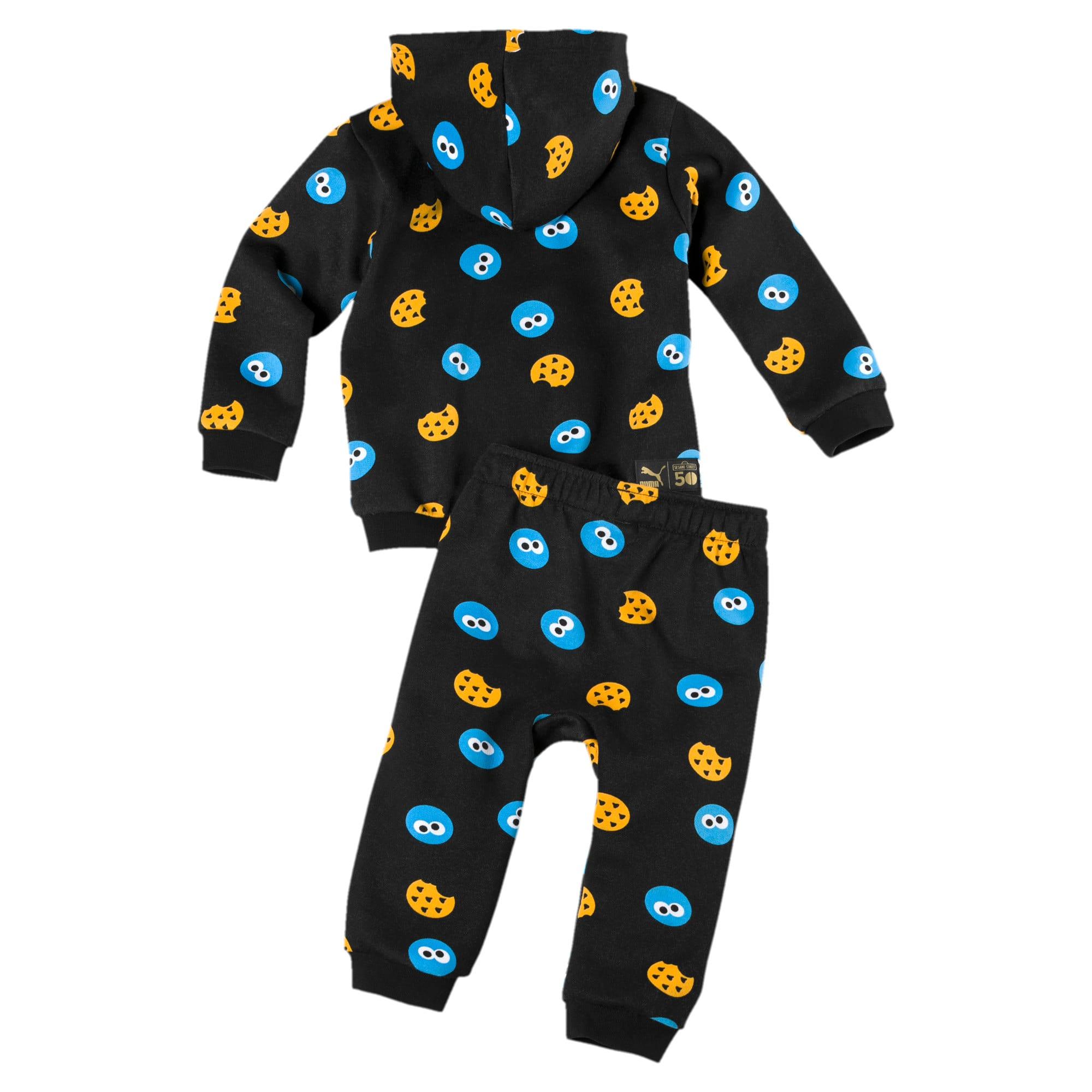 Thumbnail 2 of Sesame Street Graphic Babies' Jogger Set, Puma Black, medium