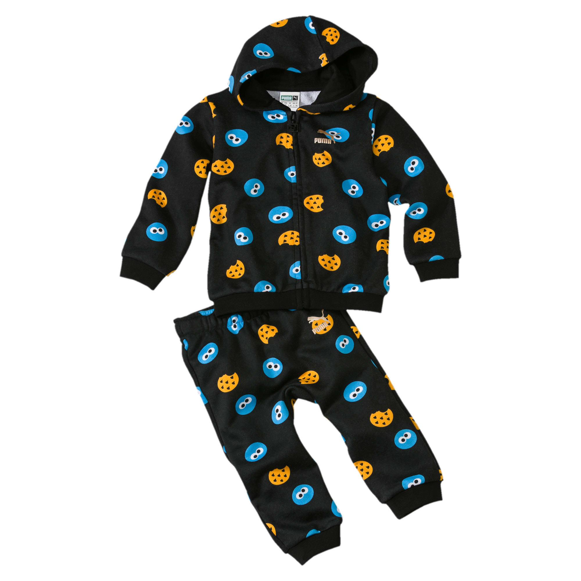 Thumbnail 1 of Sesame Street Graphic Babies' Jogger Set, Puma Black, medium
