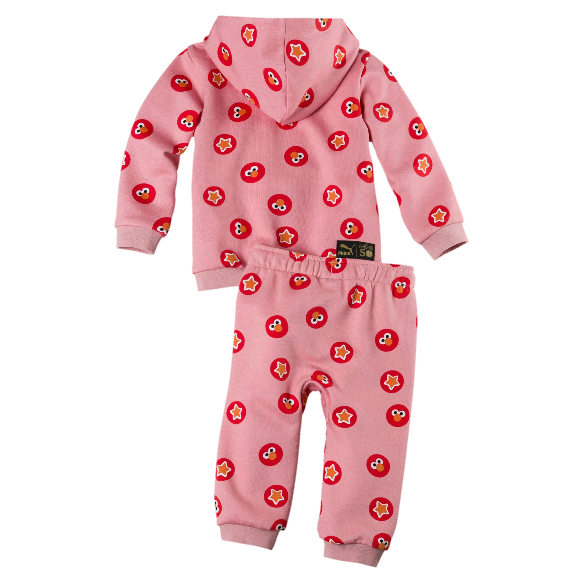 Thumbnail 2 of PUMA x SESAME STREET Infant + Toddler Two-Piece Jogger Set, Bridal Rose, medium