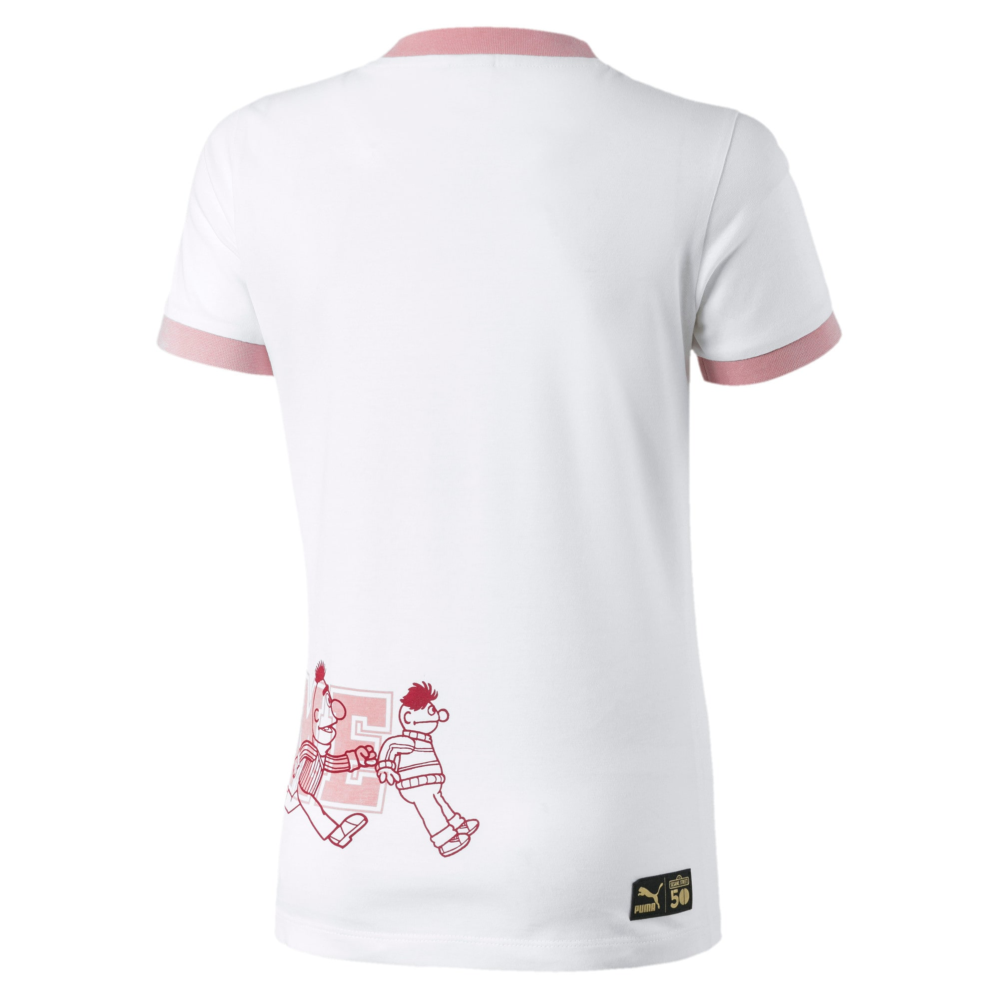 Thumbnail 2 of Sesame Street Short Sleeve Girls' Tee, Puma White, medium