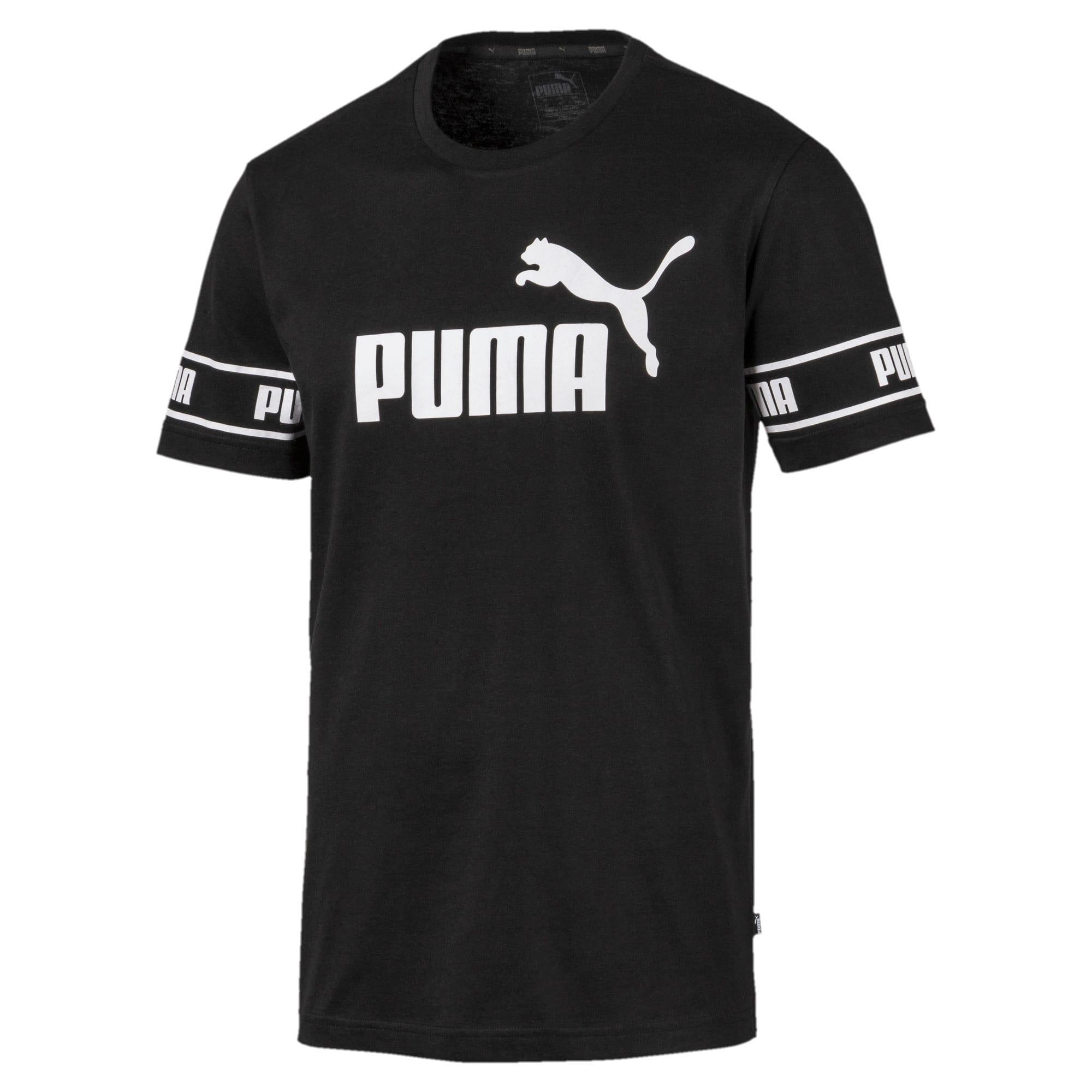 Thumbnail 4 of Amplified Men's Big Logo Tee, Puma Black, medium