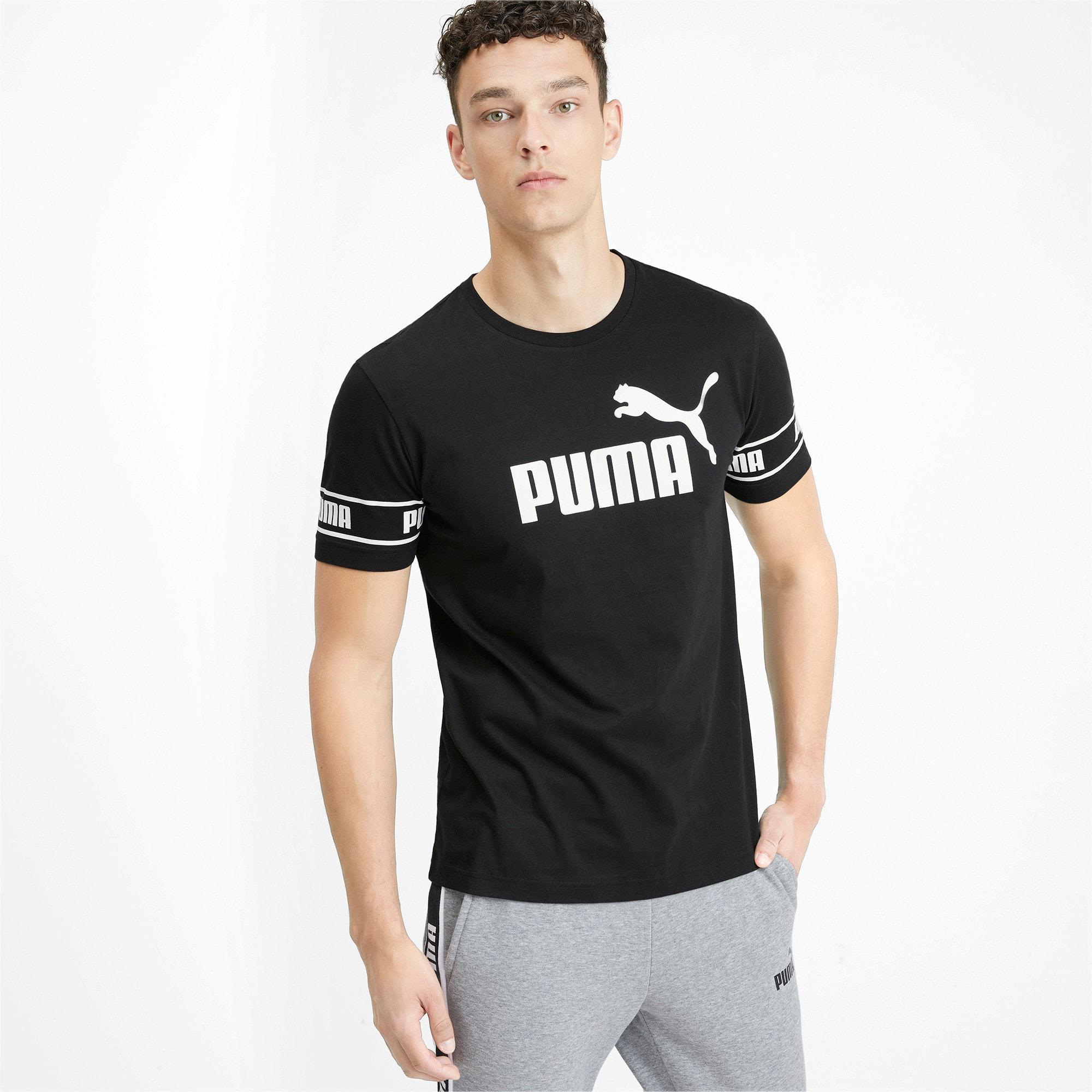 Thumbnail 1 of Amplified Men's Big Logo Tee, Puma Black, medium