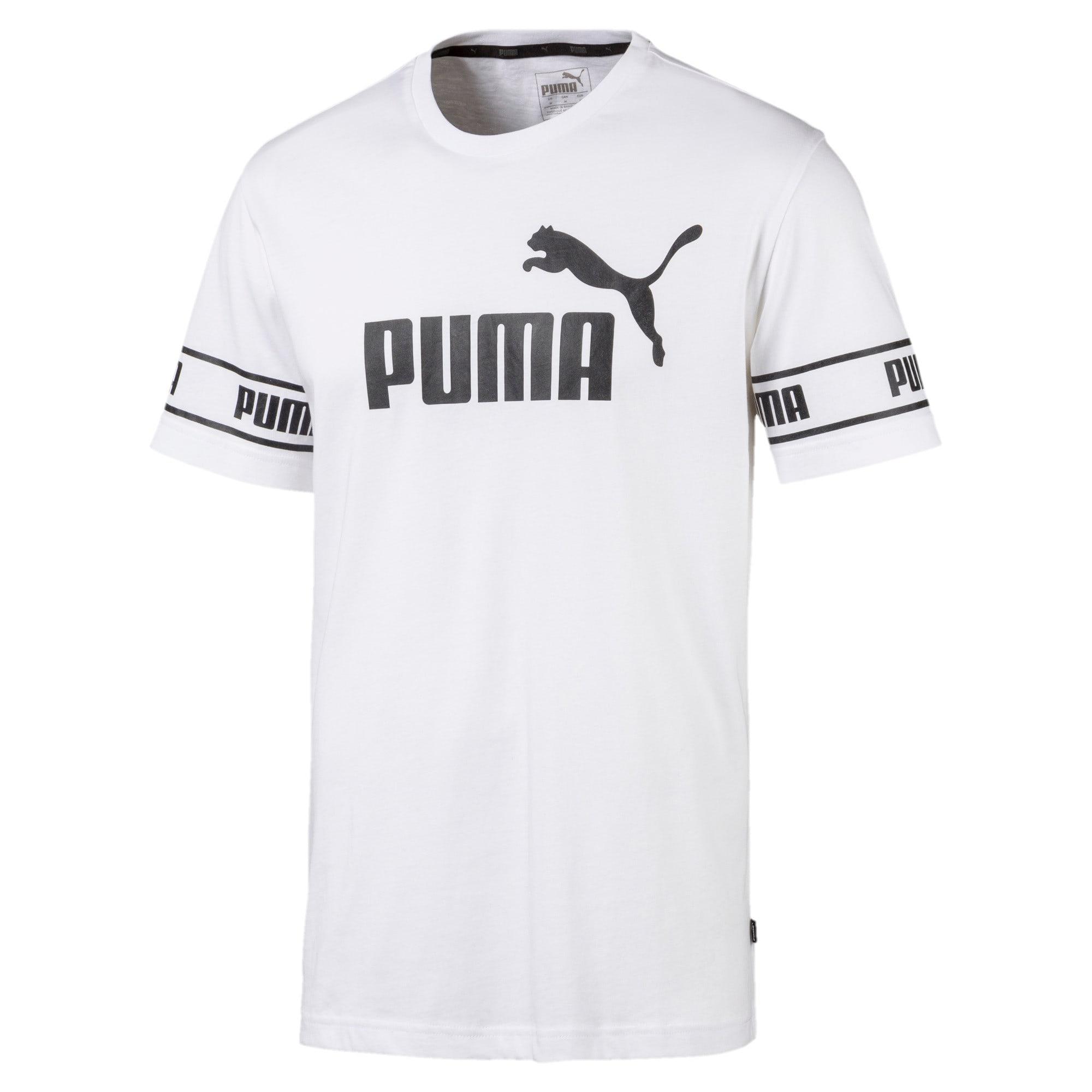 Thumbnail 4 of Amplified Men's Big Logo Tee, Puma White, medium
