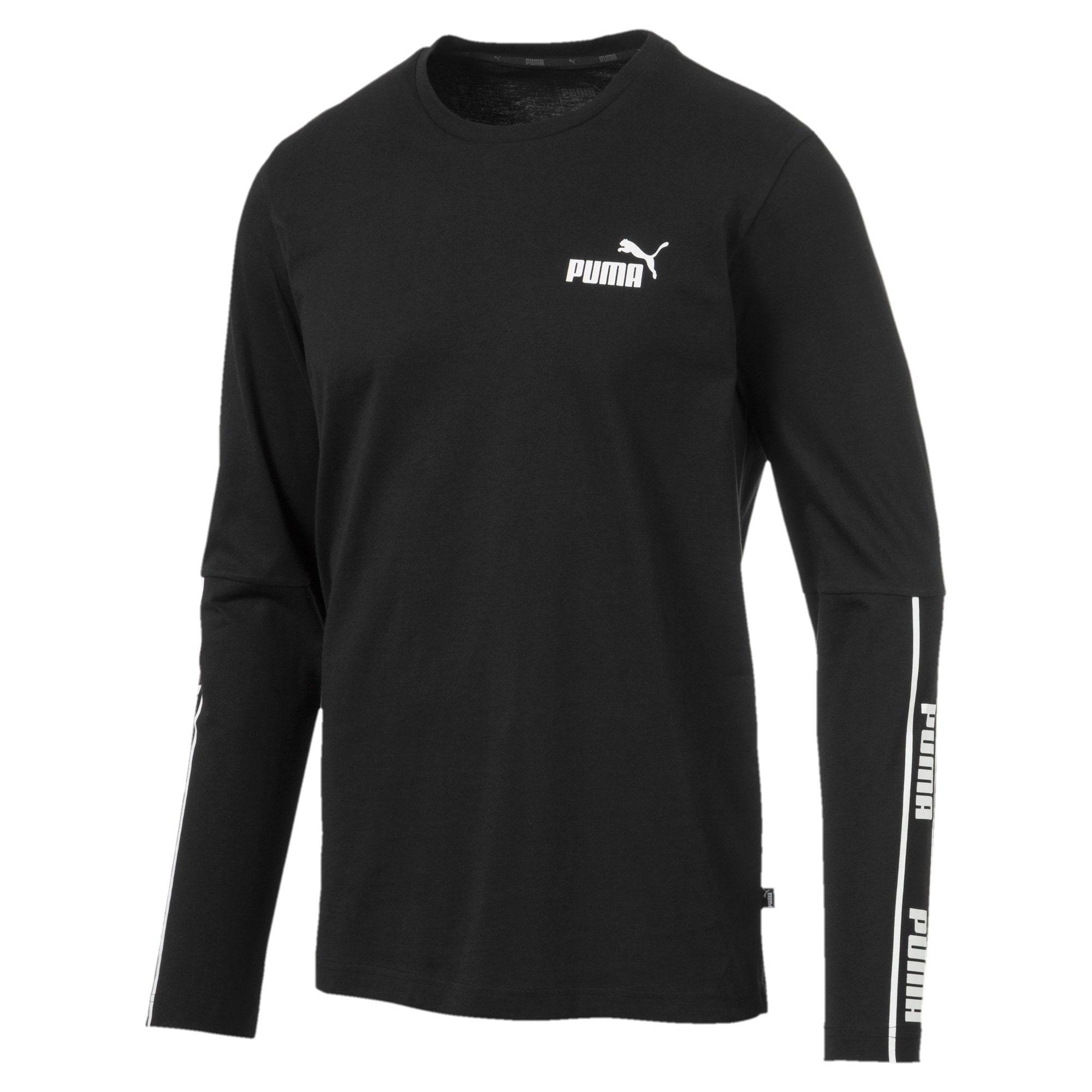 Miniatura 1 de Camiseta de mangas largas Amplified para hombre, Puma Black, mediano