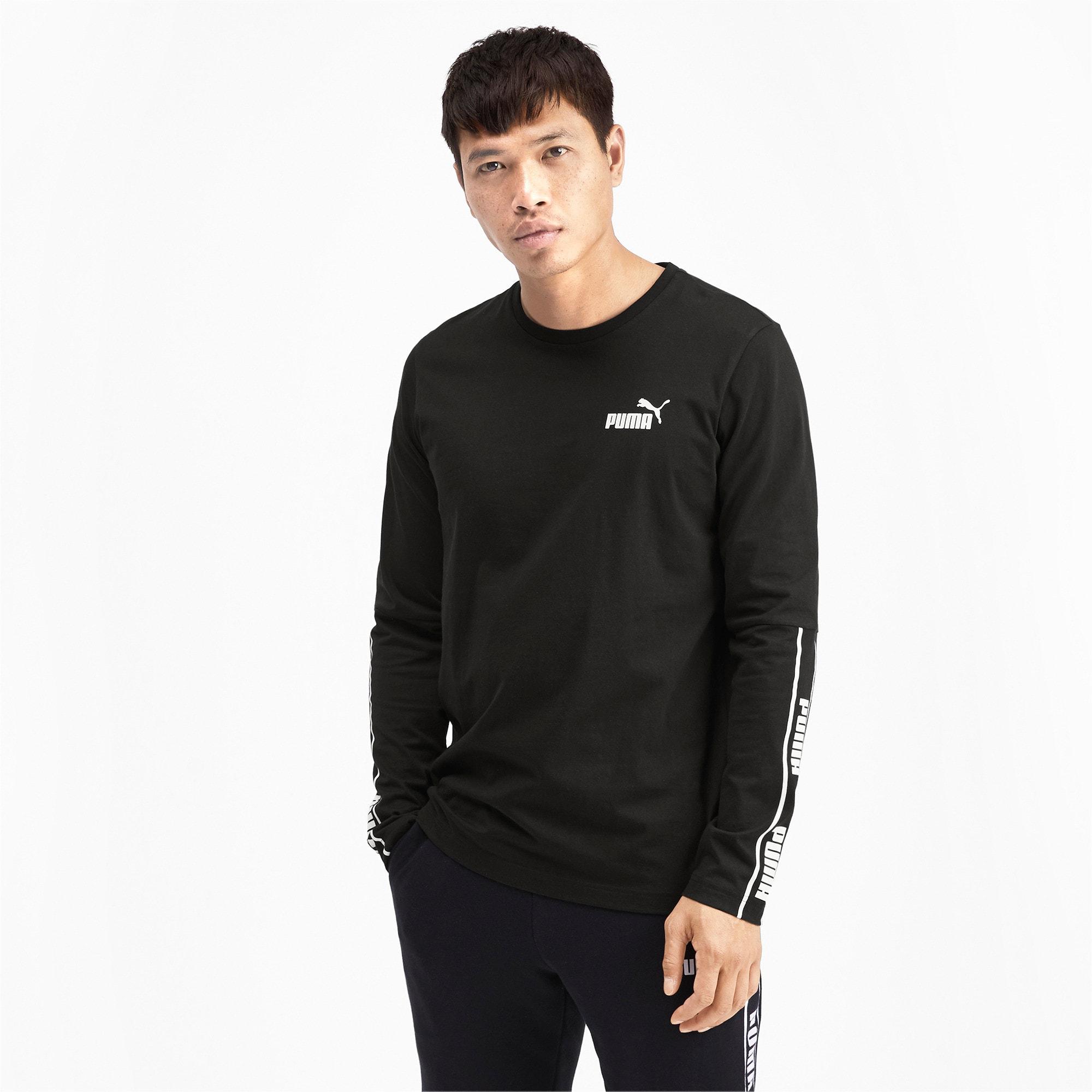 Miniatura 2 de Camiseta de mangas largas Amplified para hombre, Puma Black, mediano