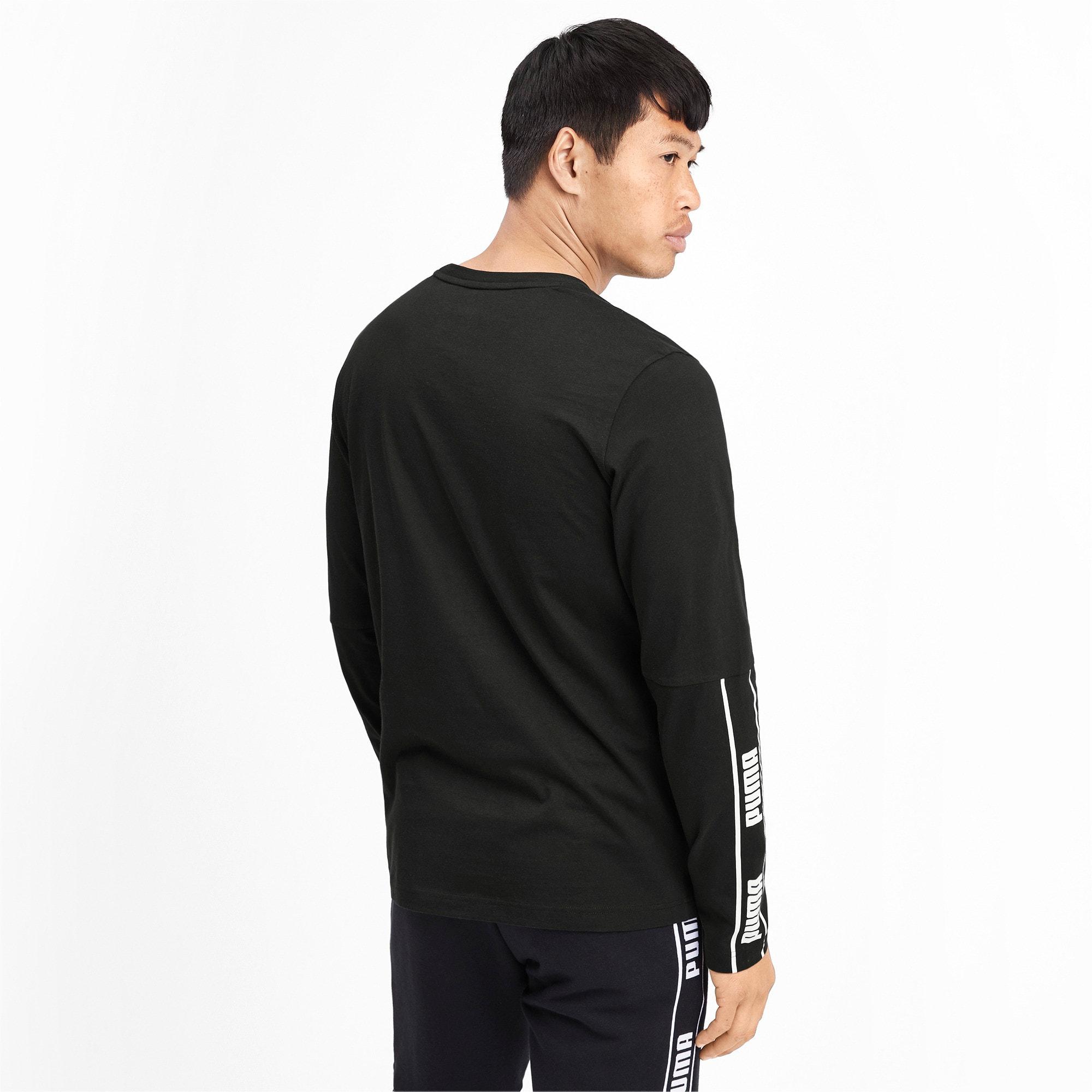 Miniatura 3 de Camiseta de mangas largas Amplified para hombre, Puma Black, mediano