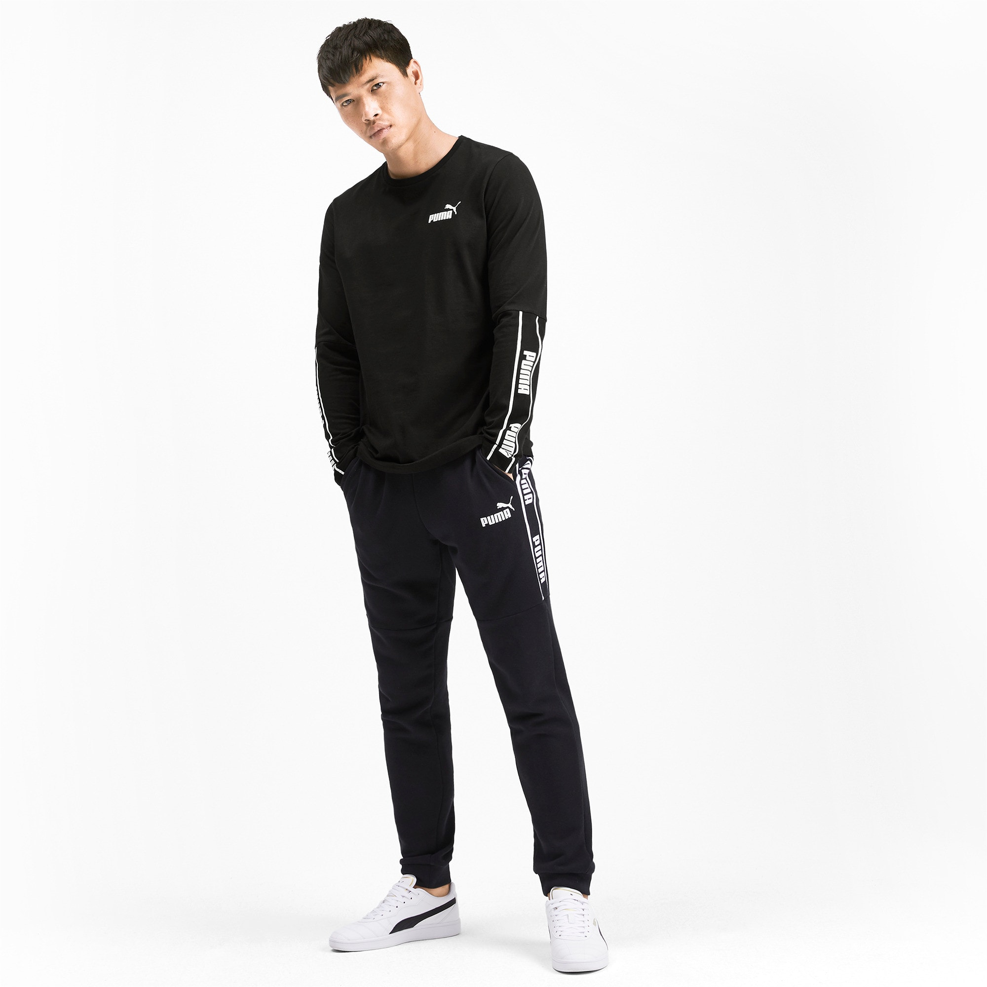 Miniatura 4 de Camiseta de mangas largas Amplified para hombre, Puma Black, mediano