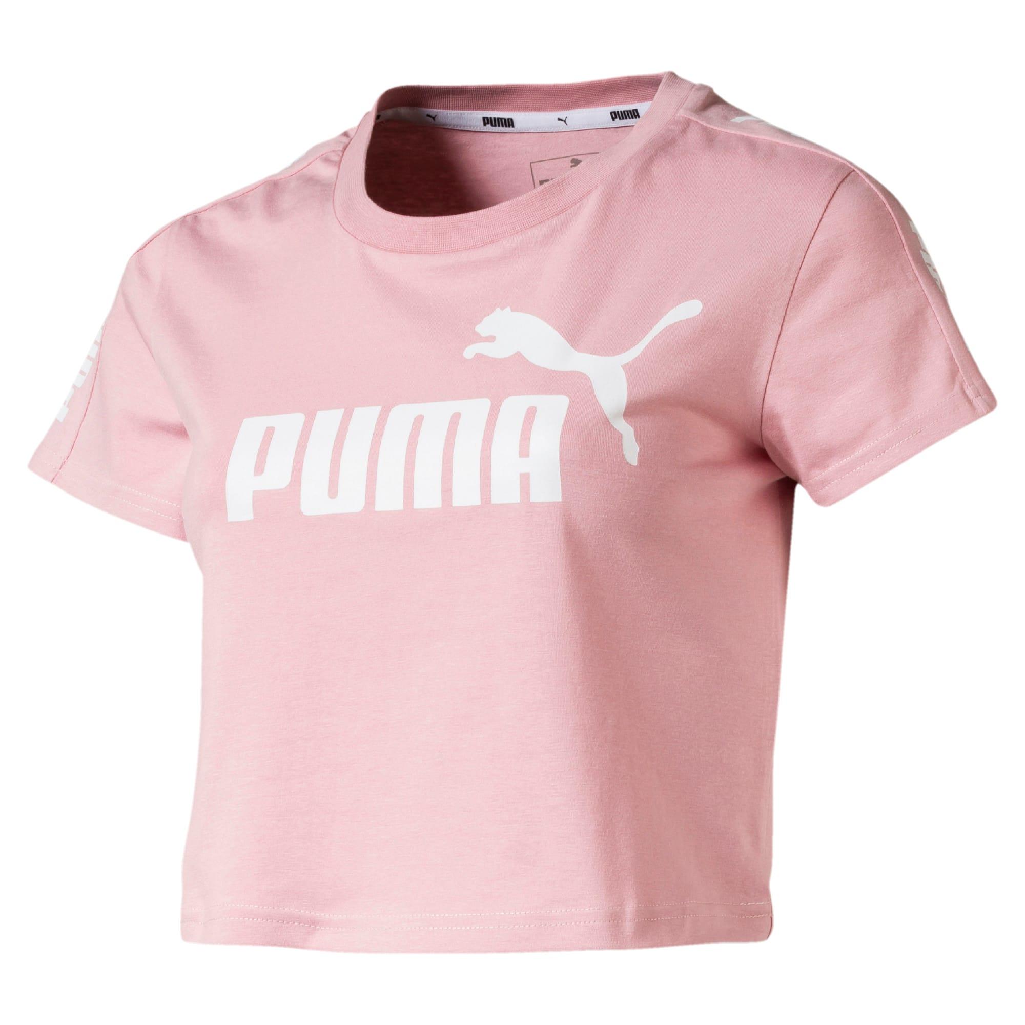 Miniatura 4 de Camiseta ajustada con logo Amplified para mujer, Bridal Rose, mediano